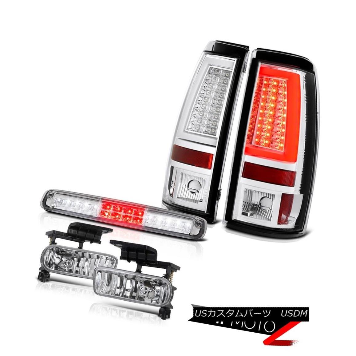 テールライト 99-02 Silverado 3500 Tail Brake Lights High Stop Lamp Fog Neon Tube Tron Style 99-02 Silverado 3500テールブレーキライトハイストップランプフォグネオンチューブトロンスタイル