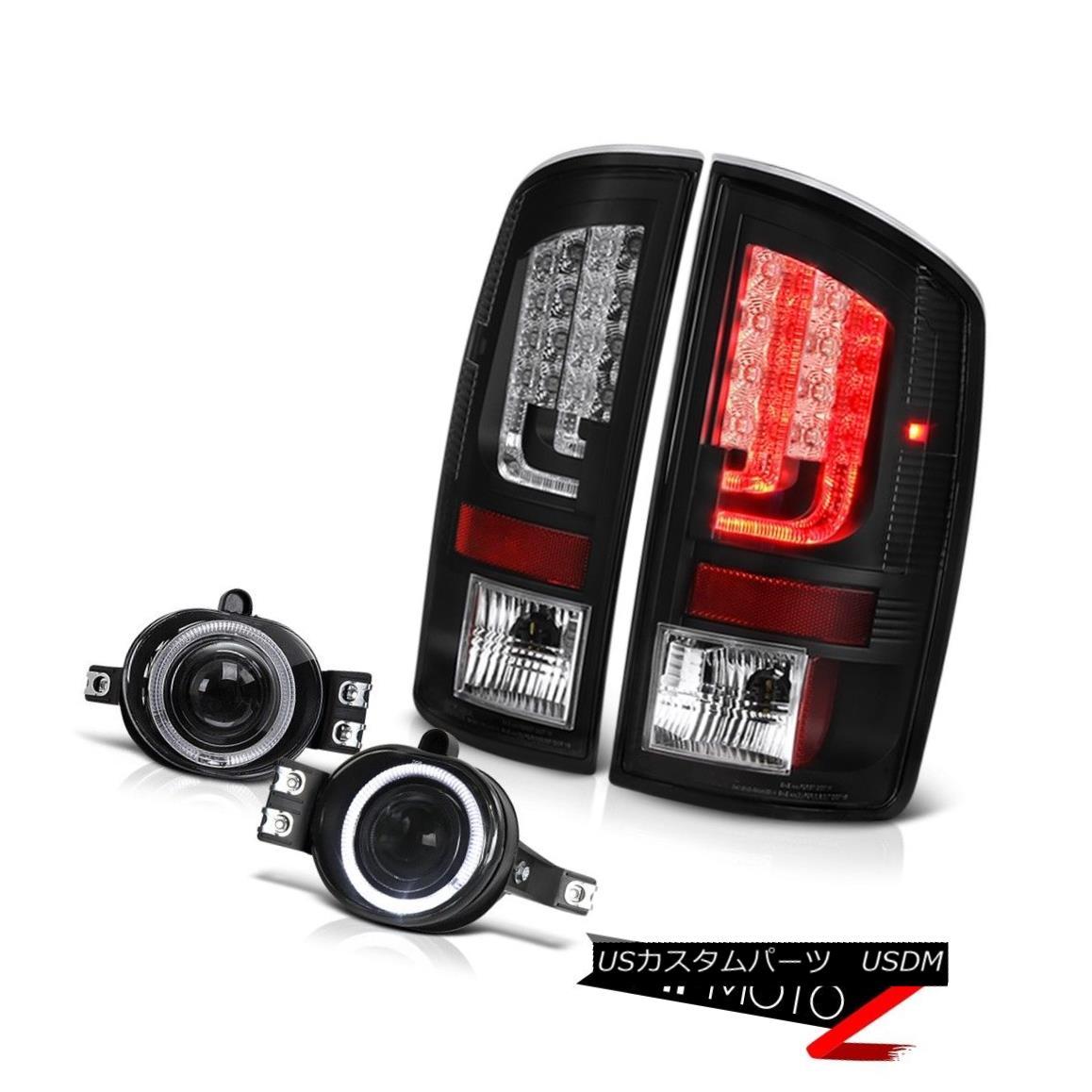 テールライト 02-06 Dodge Ram 2500 3500 5.7L Tail Lights Euro Clear Fog Neon Tube