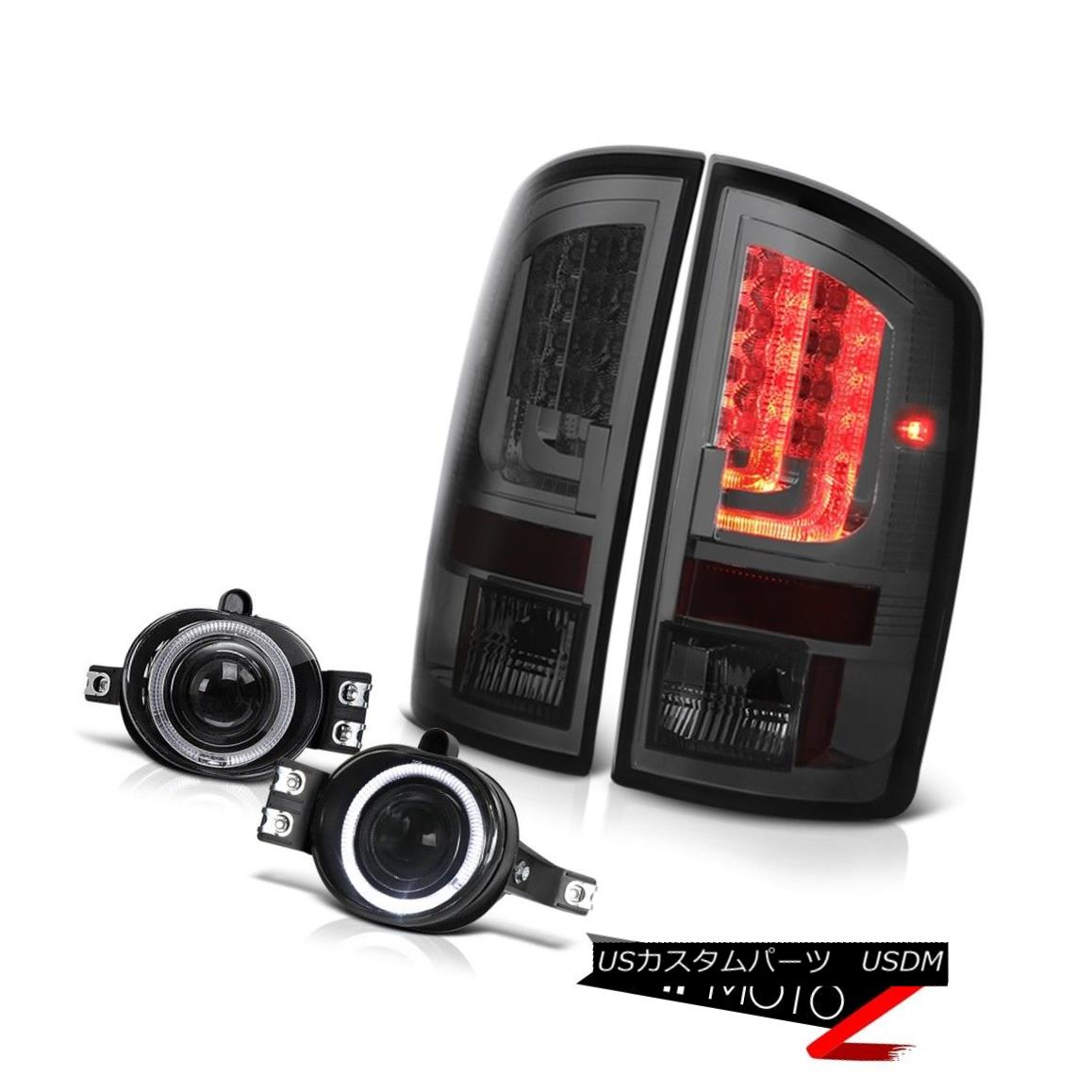 テールライト 02-06 Ram 1500 2500 3500 WS Smoked Tail Lamps Clear Chrome Fog Lights OLED Prism 02-06 Ram 1500 2500 3500 WSスモークテールランプクリアクロームフォグライトOLEDプリズム