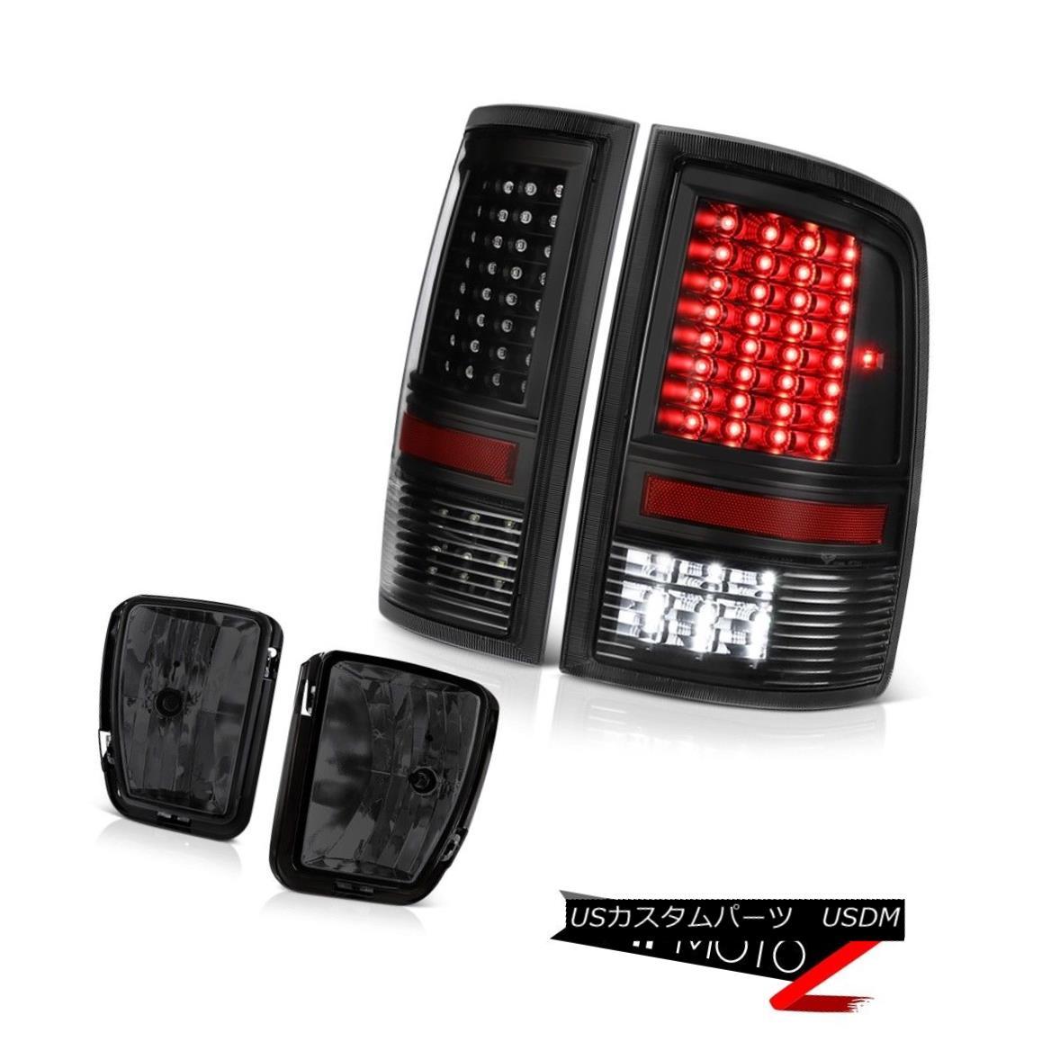 テールライト 13-18 Ram 1500 SLT Smokey Foglamps Tail Lights CrySTal Lens LED SMD