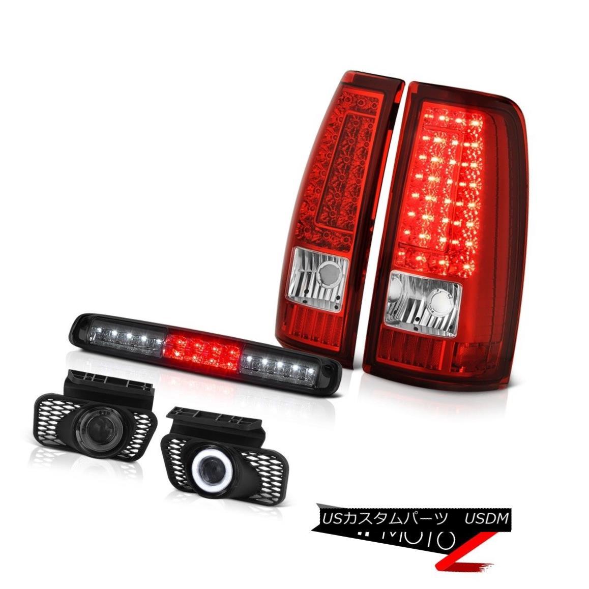 テールライト 2003-2006 Silverado Smokey 3RD Brake Lamp Fog Lights Wine Red Parking Lights 2003-2006シルバラードスモーキー3RDブレーキランプフォグライトワインレッドパーキングライト