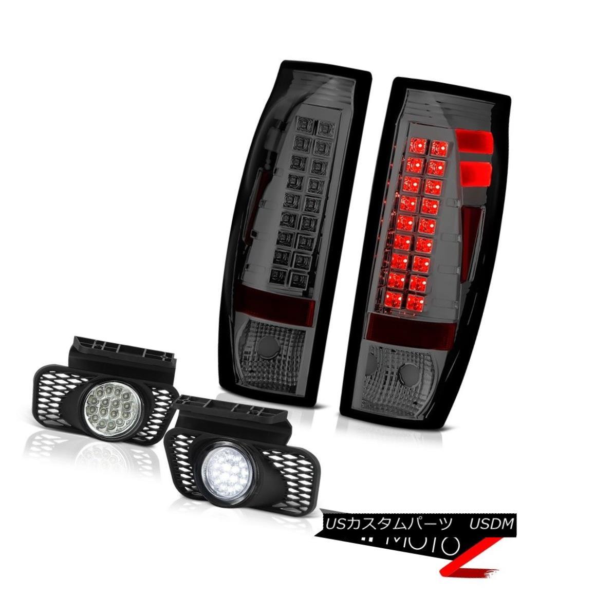 テールライト 2003-2006 Chevy Avalanche 2500HD Euro Chrome Foglamps Graphite Smoke Taillamps 2003-2006シボレーアバランチ2500HDユーロクロームフォグランプグラファイトスモークタイルランプ