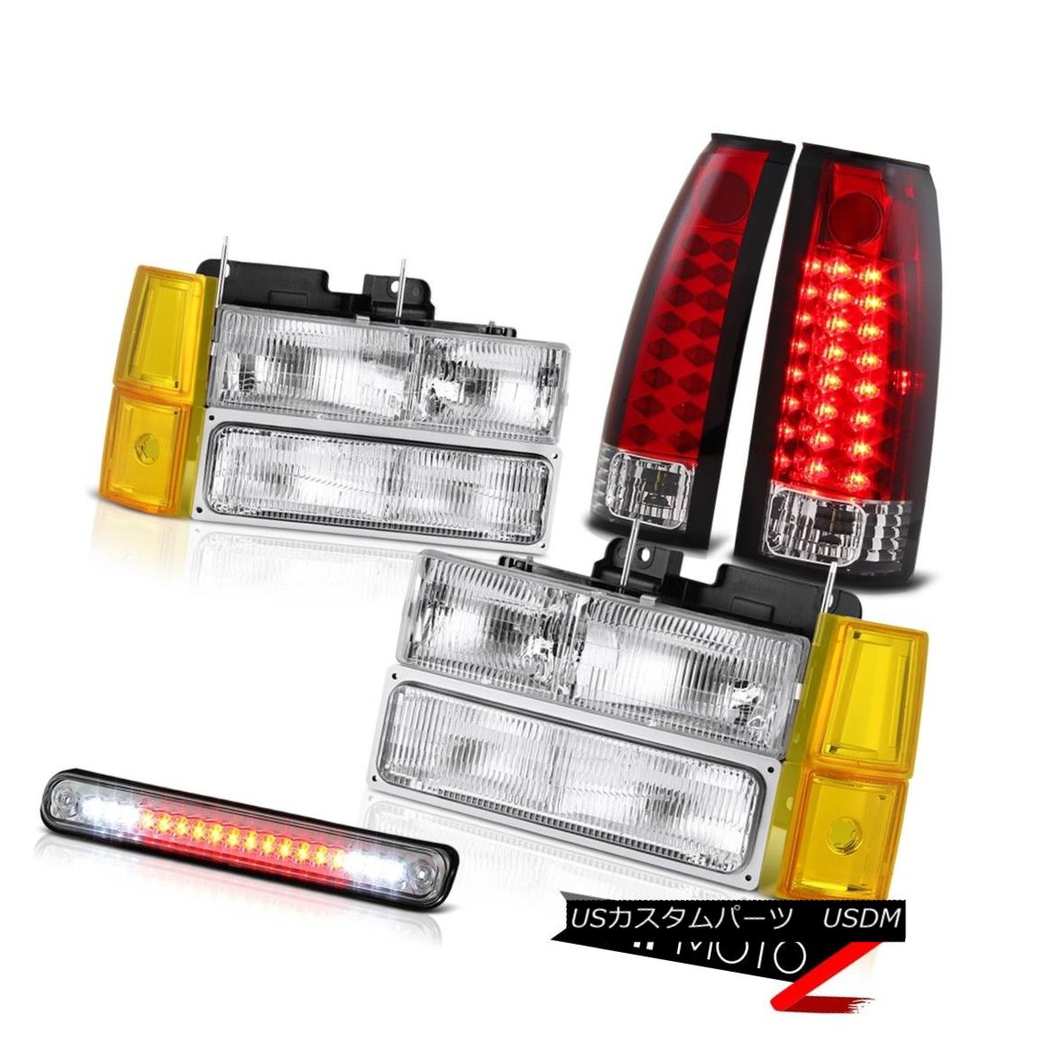 テールライト 94-98 GMC K2500 Headlights Bumper Roof Brake Light Tail Lamps SMD