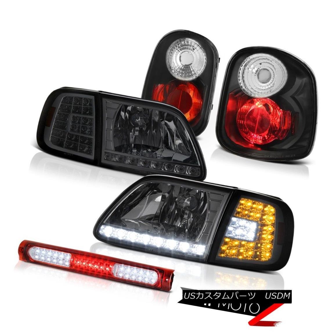テールライト LED Headlights Lamp Rear Black Tail Lights High Brake 01-03 F150 Flareside 5.4L LEDヘッドライトランプリアブラックテールライトハイブレーキ01-03 F150フラレイド5.4L