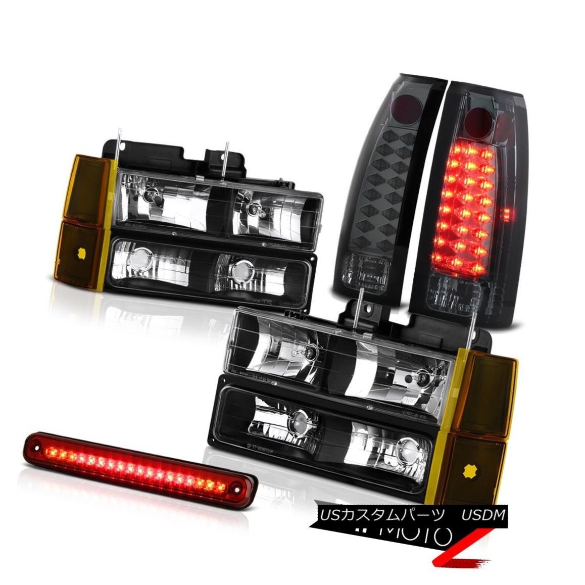 テールライト 1994-1998 GMC C3500 Inky Black Headlamps Bumper Red Roof Cargo Light Taillamps 1994-1998 GMC C3500 Inky Blackヘッドランプバンパーレッドルーフカーゴライトライトランプ