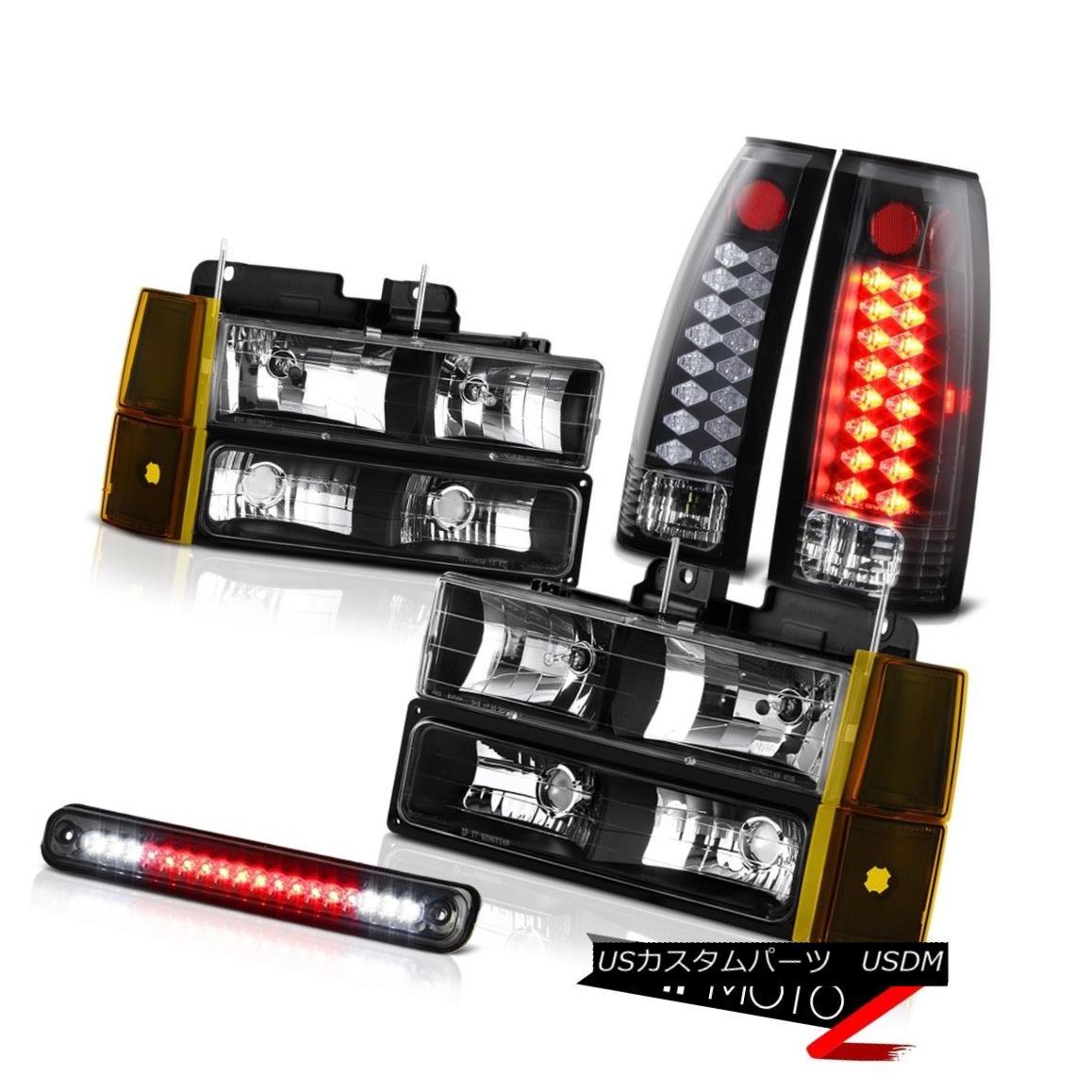 テールライト 1994-1998 GMC K2500 Headlamps Bumper Smoked Roof Brake Lamp Rear Lamps LED SMD 1994-1998 GMC K2500ヘッドランプバンパースモーク屋根ブレーキランプリアランプLED SMD