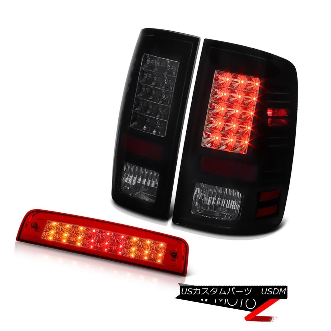 テールライト 2013-2018 Ram 2500 Big Horn Red Roof Cab Light Rear Brake Lamps LED