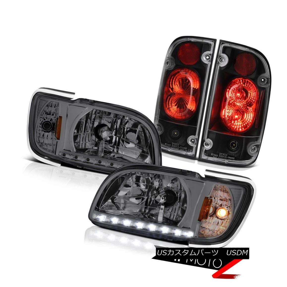 テールライト 01 02 03 04 Toyota Tacoma PreRunner Black taillights headlamps bumper Assembly 01 02 03 04トヨタタコマPreRunnerブラックテールライトヘッドランプバンパーアセンブリ
