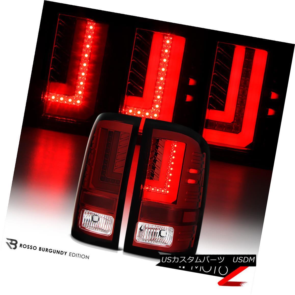 テールライト [ROSSO BURGUNDY] 2014-2016 GMC Sierra Smoke RED LED SMD Rear Brake Tail Lights [ROSSO BURGUNDY] 2014-2016 GMC Sierra Smoke RED LED SMDリアブレーキテールライト