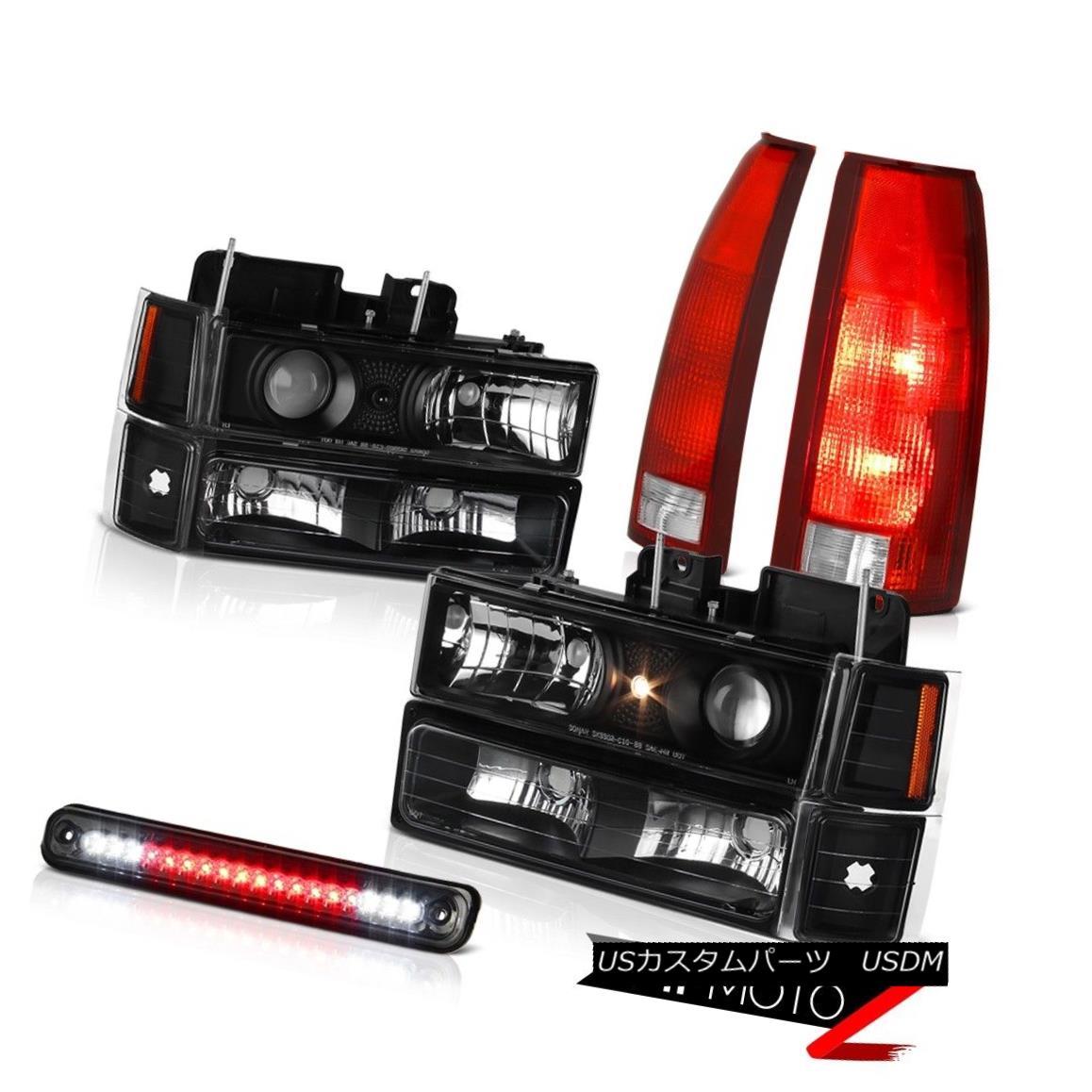 テールライト 94-98 Chevy K2500 Roof Brake Light Red Tail Lights Corner Parking Headlamps L+R 94-98 Chevy K2500ルーフブレーキライトレッドテールライトコーナーパーキングヘッドランプL + R