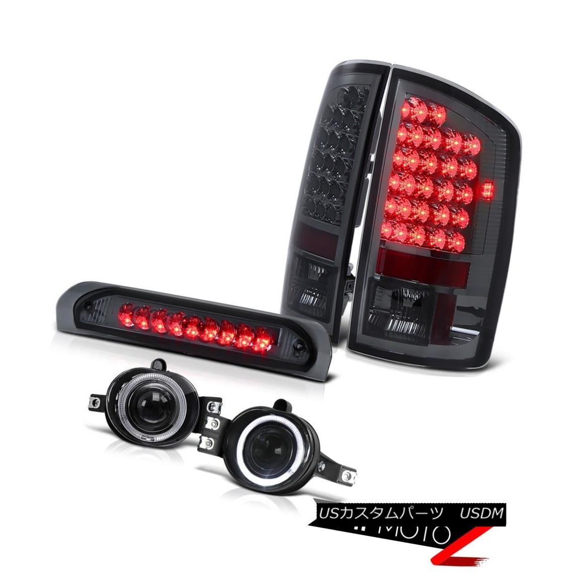 テールライト L+R Smoke LED Tail Light+3rd Brake+Halo Projector Fog Lamp Dodge RAM 02-06 1500 L + RスモークLEDテールライト+ 3rdブレーキ+ハロープロジェクターフォグランプダッジRAM 02-06 1500
