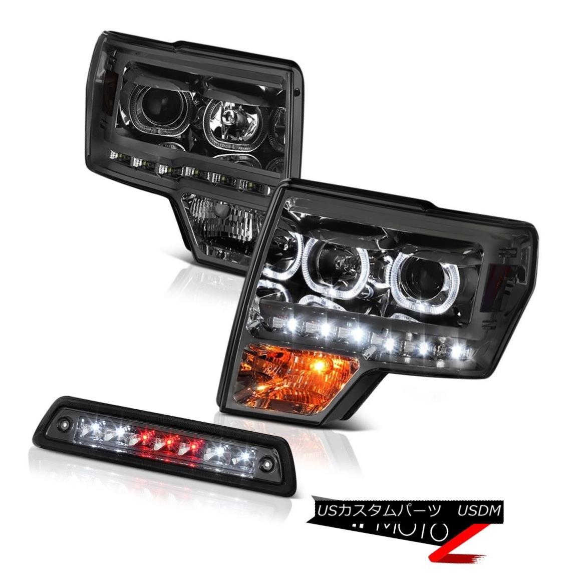 テールライト 09 10 11 12 13 14 F150 XL Smokey roof brake lamp projector headlamps Halo Rim 09 10 11 12 13 14 F150 XLスモーキー屋根ブレーキランププロジェクターヘッドランプHalo Rim