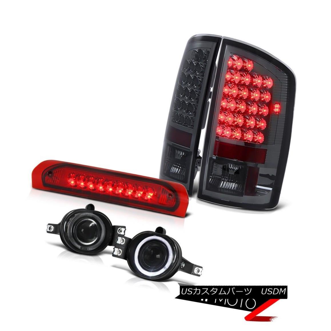 テールライト Smoke LED Tail Light+3rd Brake+Smoke Halo Projector Fog Lamp 02-06 Dodge RAM V8 スモークLEDテールライト+第3ブレーキ+スモークハロープロジェクターフォグランプ02-06 Dodge RAM V8