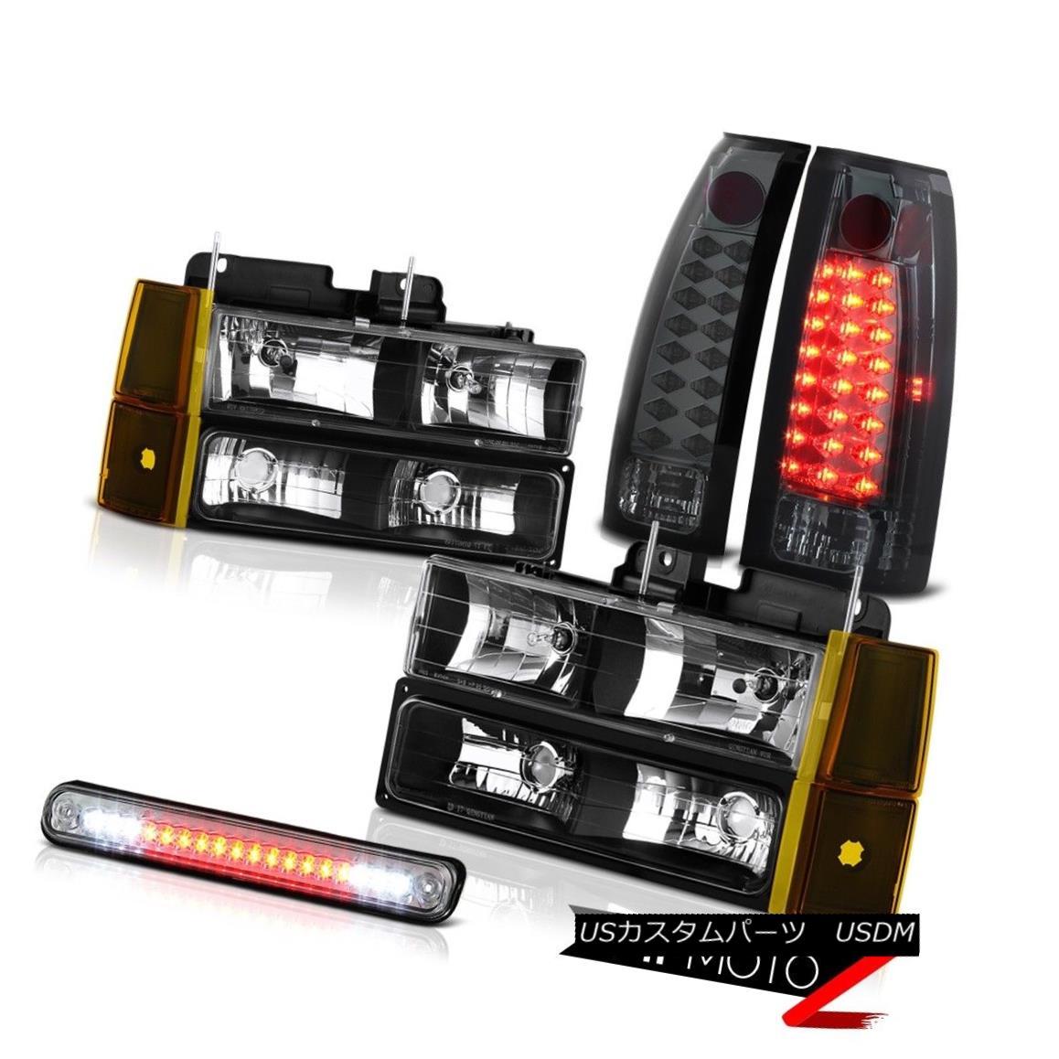 テールライト 94-98 GMC C3500 Headlamps Corner High Stop Lamp Tail Brake Lamps SMD