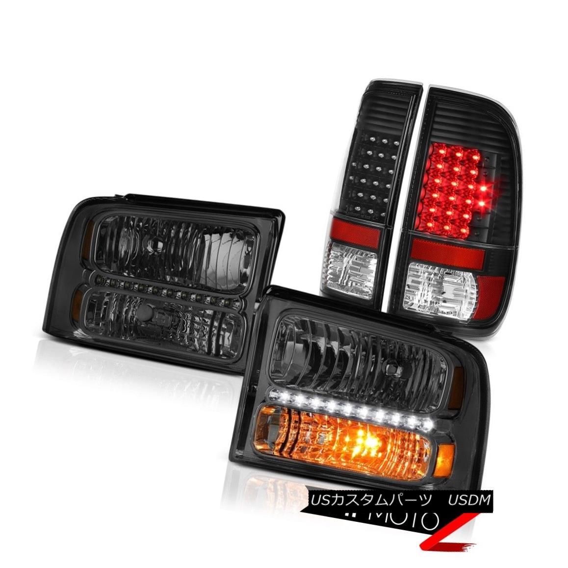テールライト Crystal Tinted Headlights SMD Tail Lights Black 2005 2006 2007 Ford F250 Lariat クリスタルティントヘッドライトSMDテールライトブラック2005 2006 2007 Ford F250 Lariat
