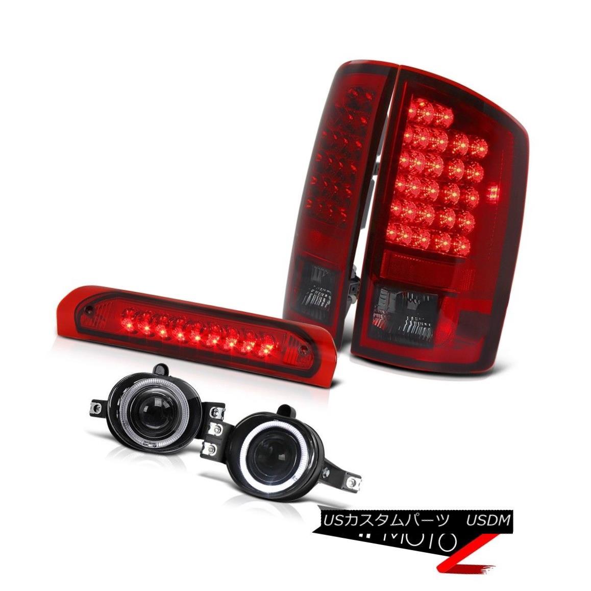 テールライト L+R Dodge RAM 02-06 SMOKEY LED Taillight+3rd Brake+Halo Projector Fog Lamp COMBO L + RドッジRAM 02-06 SMOKEY LEDテールライト+ 3rdブレーキ+ハロープロジェクターフォグランプCOMBO