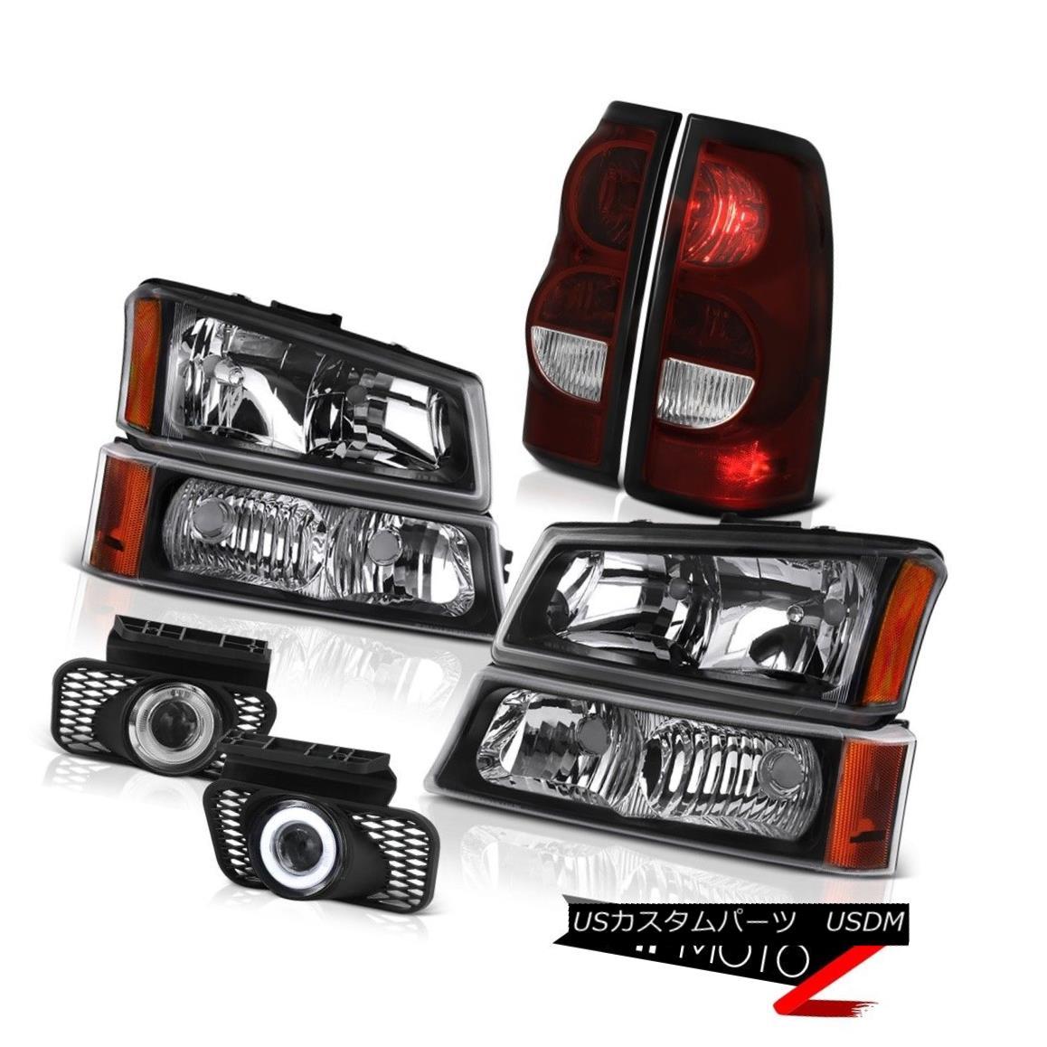 テールライト 2003-2006 Silverado Sterling Chrome Fog Lamps Tail Lights Matte Black Headlights 2003-2006 Silverado Sterlingクロームフォグランプテールライトマットブラックヘッドライト