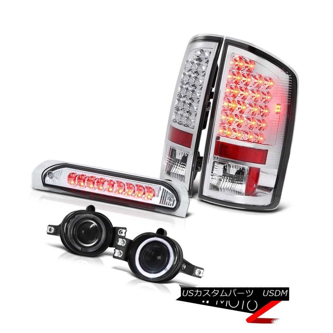 テールライト L+R Chrome LED Tail Light+3rd Brake+Halo Projector Fog Lamp 2002-2006 Dodge RAM L + RクロームLEDテールライト+第3ブレーキ+ハロープロジェクターフォグランプ2002-2006 Dodge RAM