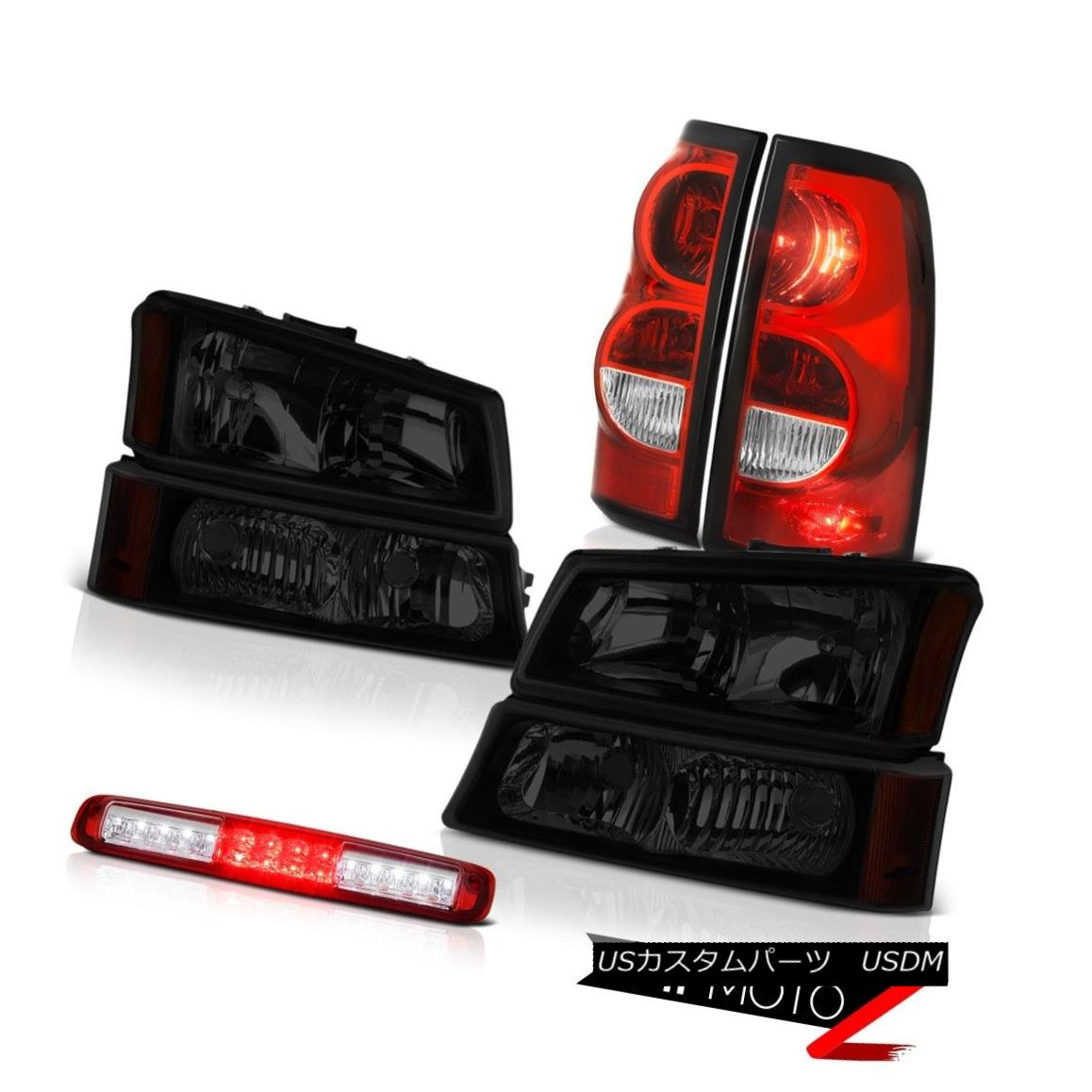 テールライト 03-06 Silverado 1500 High Stop Light Tail Brake Lamps Sinister Black Headlamps 03-06 Silverado 1500ハイストップライトテールブレーキランプシニスターブラックヘッドランプ