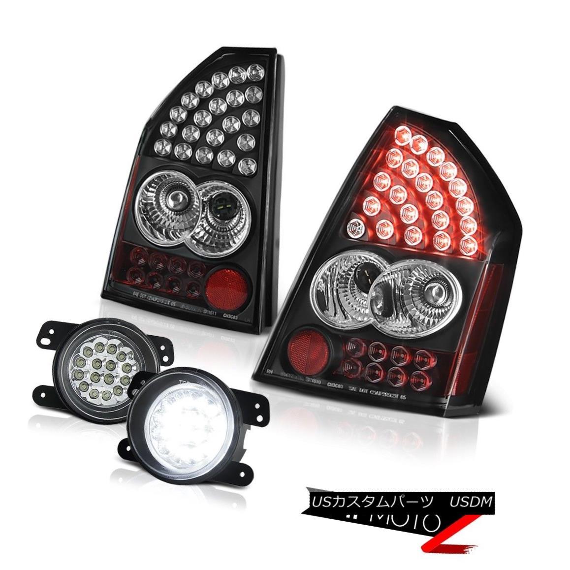 テールライト 05-07 Chrysler 300 2.7L SMD Tail Lights Black LED Driving Fog Sterling Chrome 05-07クライスラー300 2.7L SMDテールライトブラックLEDドライビングフォグスターリングクローム