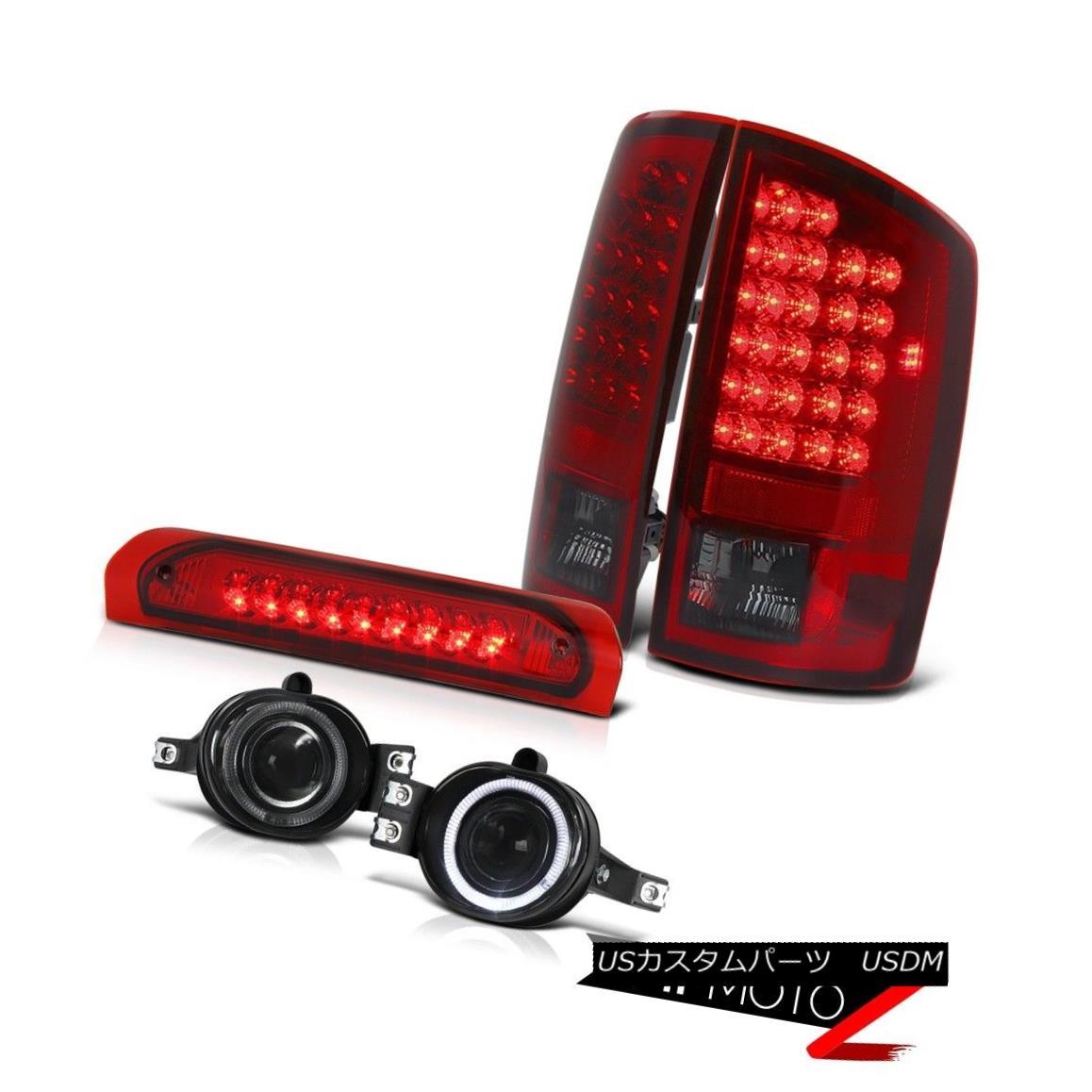 テールライト Dodge 02-06 RAM SMOKEY LED Tail Light+3rd Brake+Smoke Halo Projector Fog Lamp ドッジ02-06 RAM SMOKEY LEDテールライト+第3ブレーキ+スモークハロープロジェクターフォグランプ