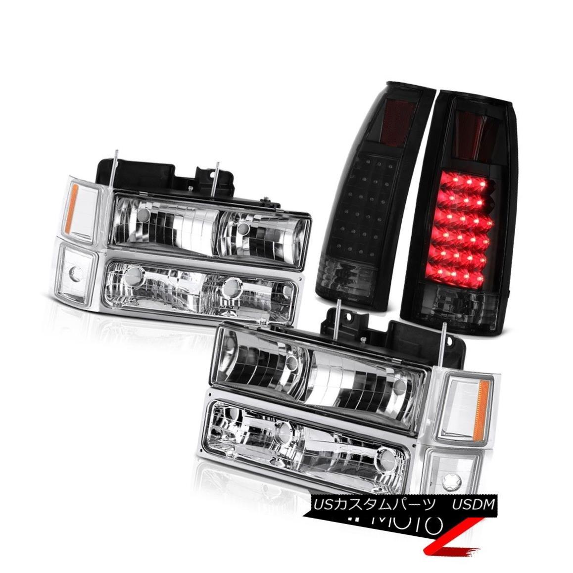 テールライト 1994-1998 Chevy K1500 Sinister Black Tail Brake Lights Parking Signal Headlights 1994-1998 Chevy K1500 Sinisterブラックテール・ブレーキライト・シグナル・ヘッドライト