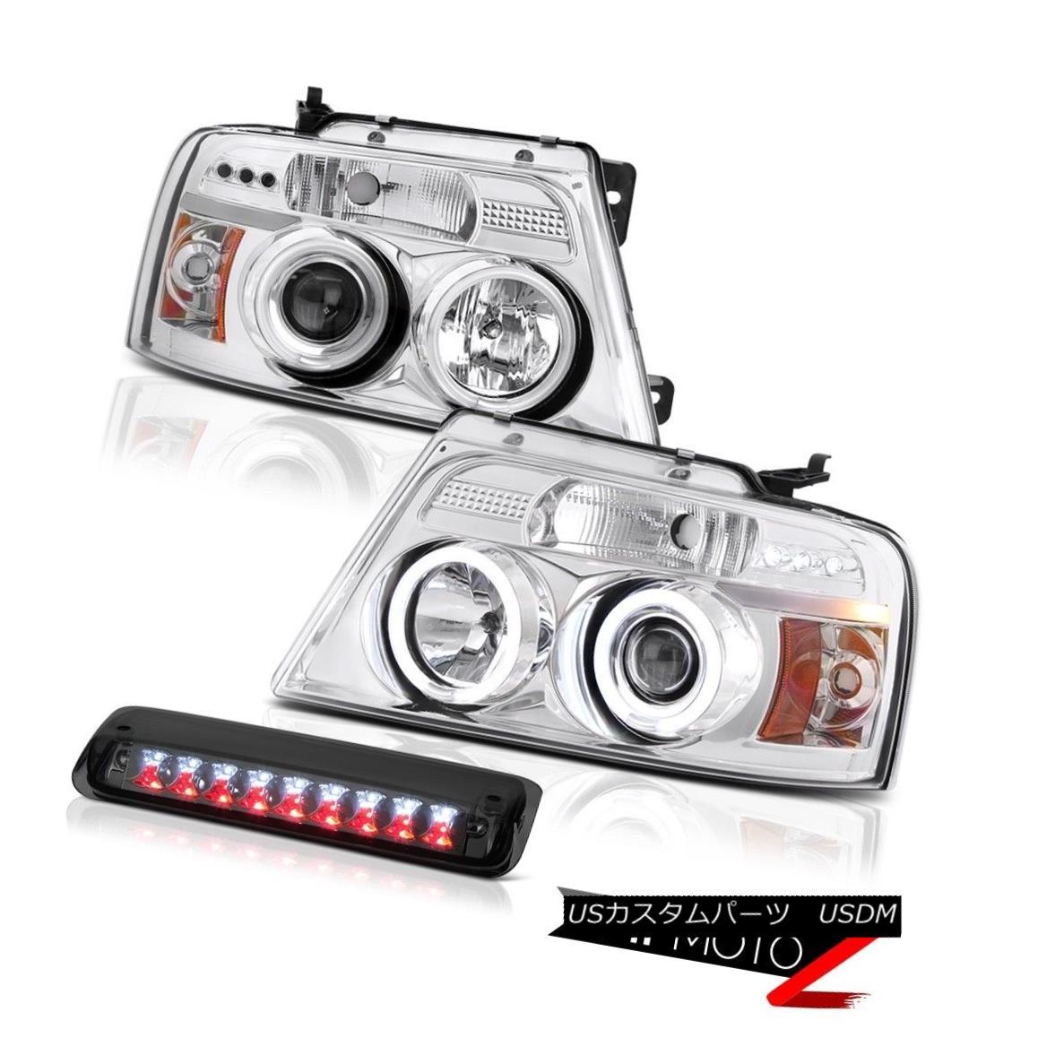 テールライト 2004-2008 Ford F150 King Ranch Third Brake Light Chrome Headlights LED Brightest 2004-2008フォードF150キングランチ第3ブレーキライトクロームヘッドライトLED最も明るい
