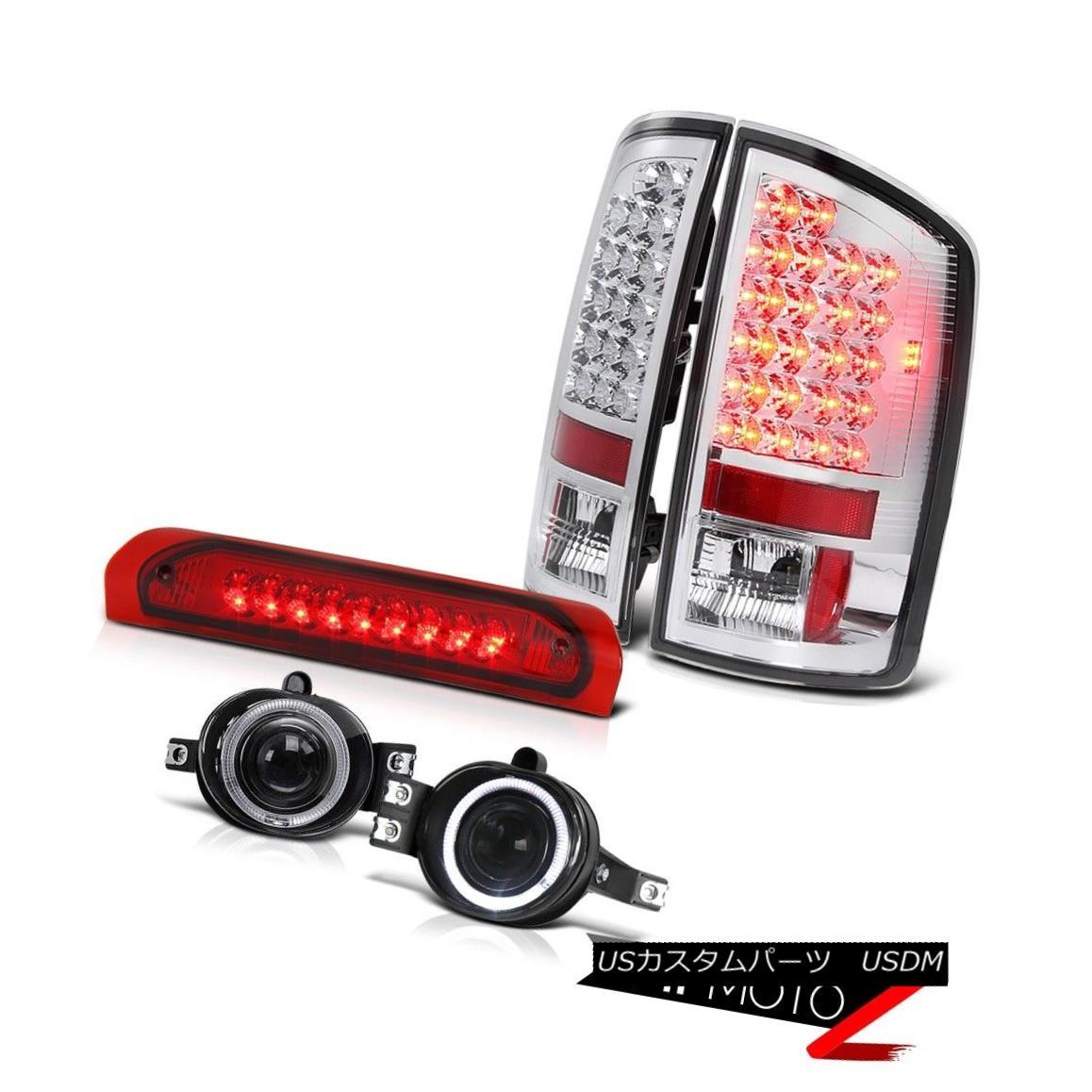 テールライト Chrome LED Tail Light+3rd Brake+Smoke Halo Projector Fog Lamp 02-06 Dodge RAM クロームLEDテールライト+第3ブレーキ+スモークハロープロジェクターフォグランプ02-06 Dodge RAM