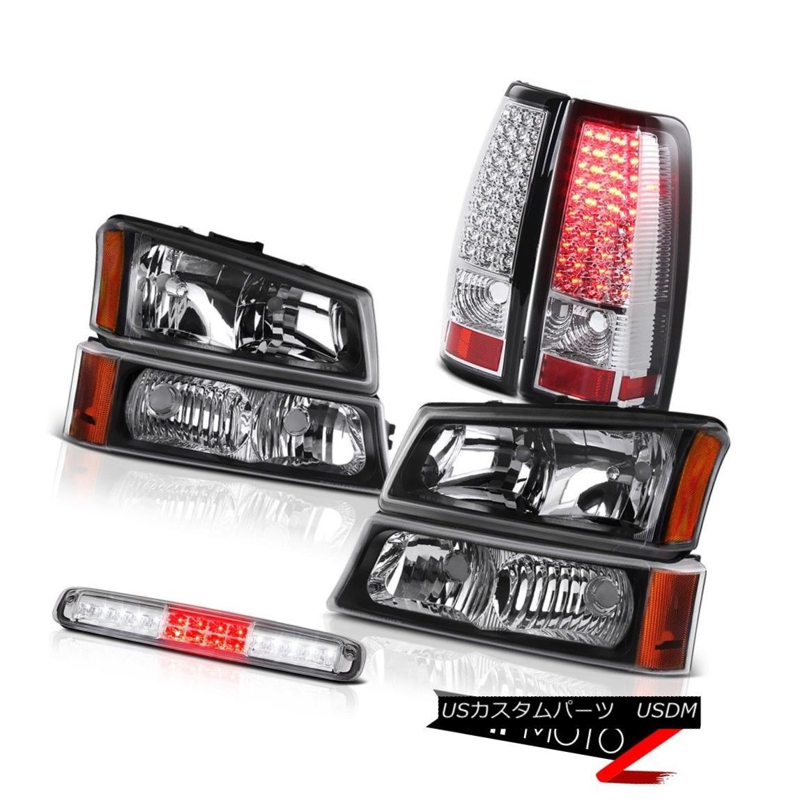 テールライト 2003-2006 Silverado Black Headlights Sterling Chrome High Stop Lamp Taillamps 2003-2006シルバラードブラックヘッドライトスターリングクロームハイストップランプタイルランプ