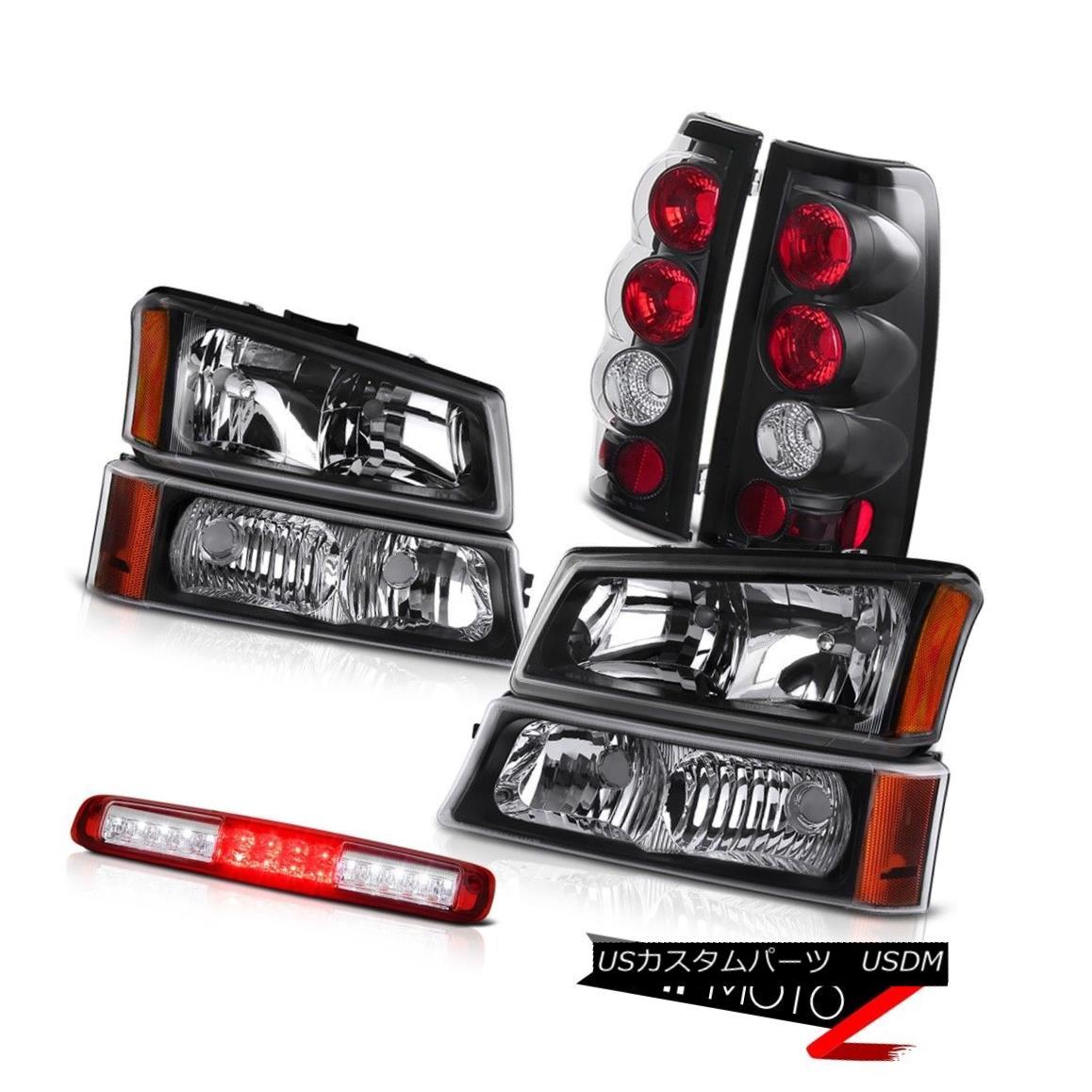 テールライト 03-06 Chevy Silverado 2500Hd Black Parking Lamp Roof Cargo Headlights Taillights 03-06 Chevy Silverado 2500Hdブラックパーキングランプ屋根カーゴヘッドライトテールライト