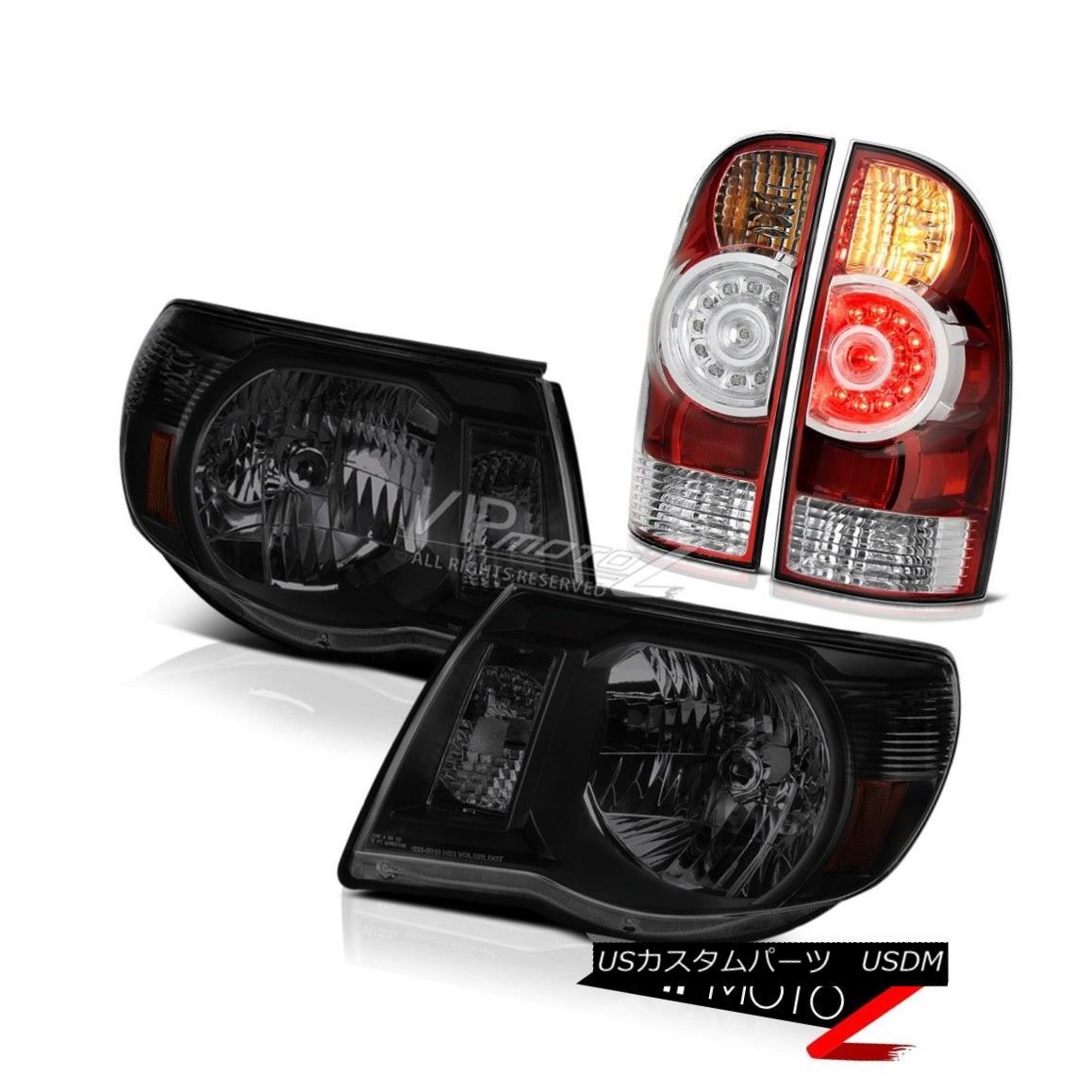 テールライト 05-11 Tacoma Trd Offroad Red Tail Brake Lamps Darkest Smoke Headlights Assembly 05-11タコマTrdオフロードレッドテールブレーキランプ暗い煙ヘッドライトアセンブリ