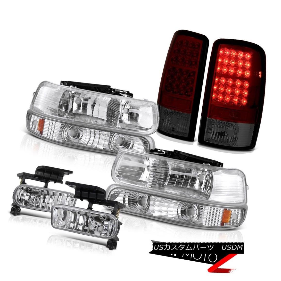 テールライト 04 05 06 Suburban 6.0L Signal Headlamp Headlight LED Bulbs Tail Lights Clear Fog 04 05 06郊外の6.0L信号ヘッドランプヘッドライトLED電球テールライトクリアフォグ
