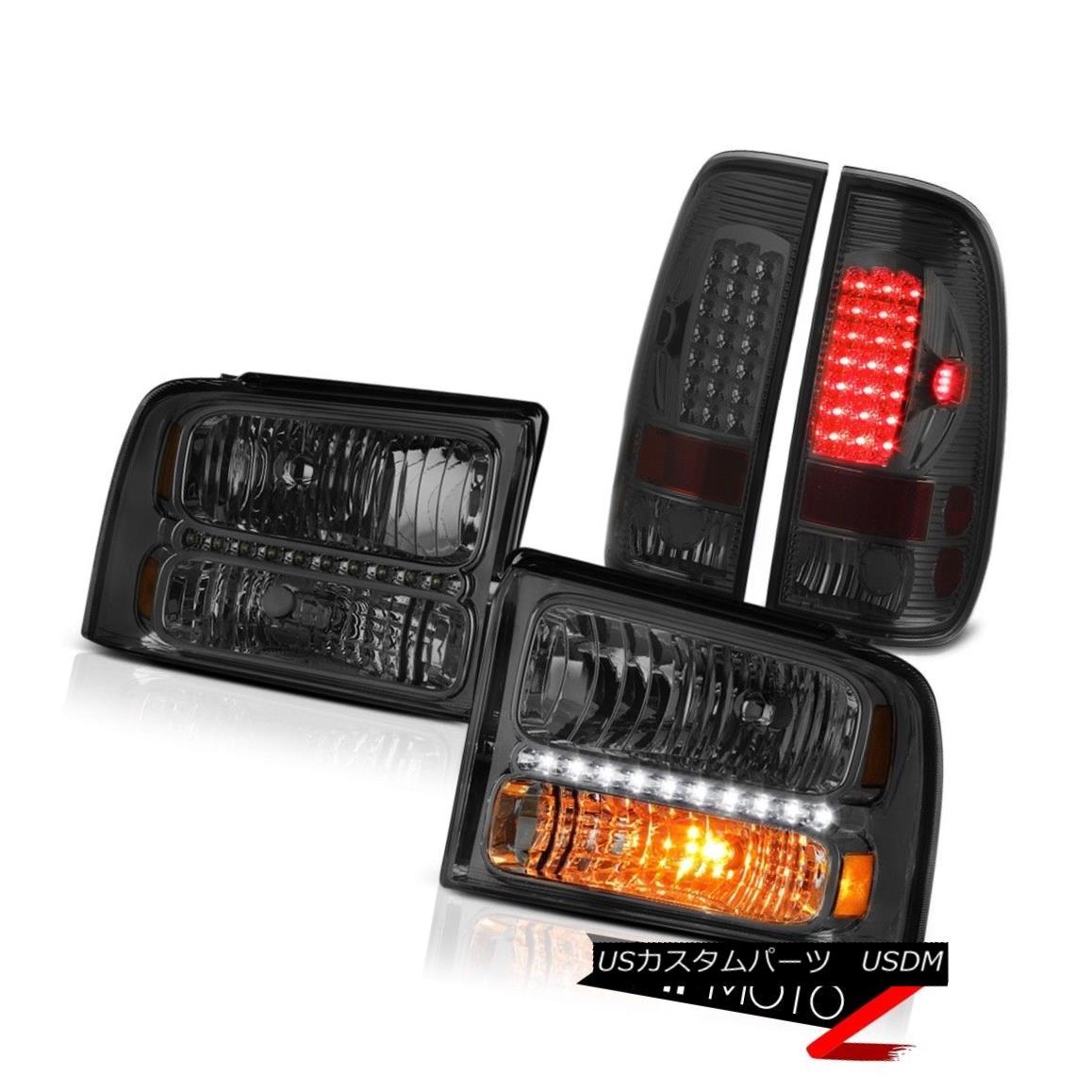 テールライト Pair Smoke Headlights LEFT RIGHT LED Tail Lights 2005 2006 2007 Ford F250 FX4 ペアの煙のヘッドライトLEFT RIGHT LEDテールライト2005 2006 2007 Ford F250 FX4