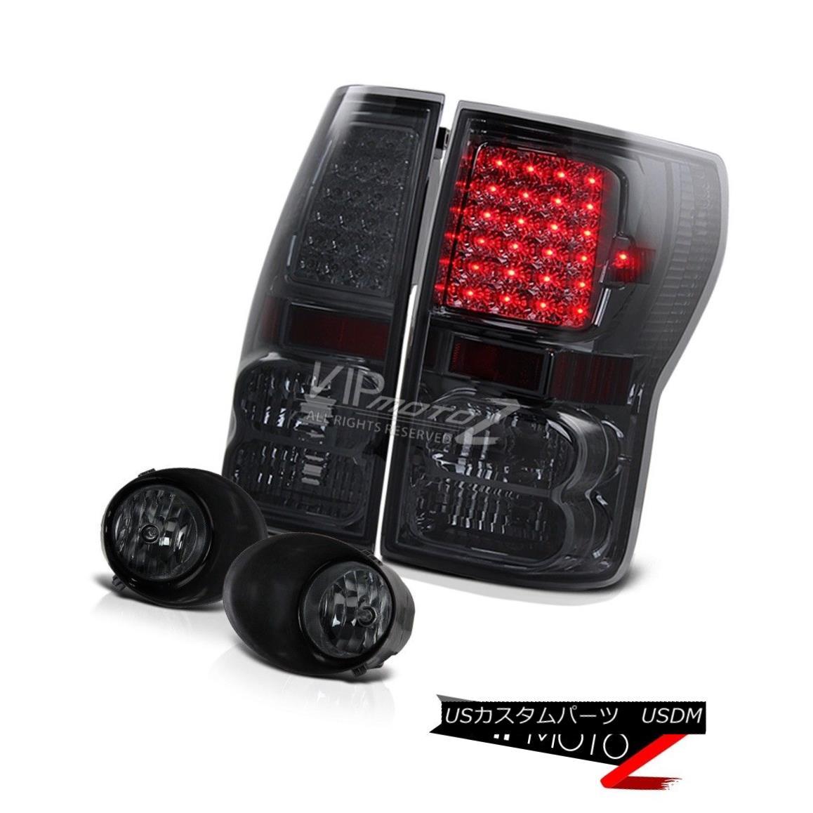 テールライト Toyota 07-2013 Tundra Smoke L+R Led Tail Lamp Brake Light+Smoke Bumper Fog Light トヨタ07-2013トンドラスモークL + Rテールランプブレーキライト+スモークバンパーフォグライト