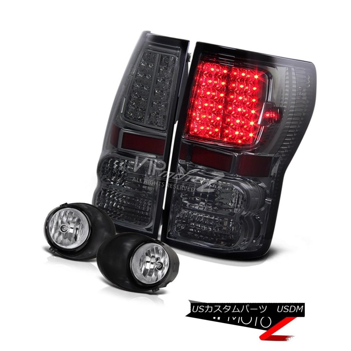 テールライト Smoke L+R Led Tail Light+Crystal Front Bumper Fog Light 2007-13 Toyota Tundra 煙L + R Ledテールライト+クリスタルフロントバンパーフォグライト2007-13 Toyota Tundra