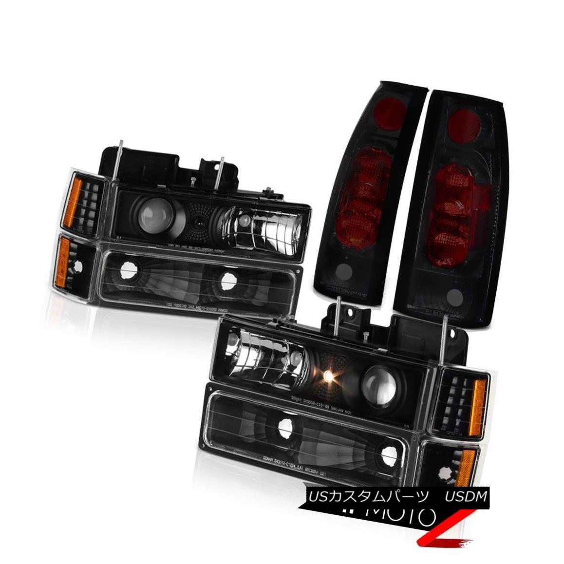 テールライト Projector Headlights Black Bumper Corner Tail Brake Lights 94-99 Chevy Suburban プロジェクターヘッドライトブラックバンパーコーナーテールブレーキライト94-99シボレー郊外