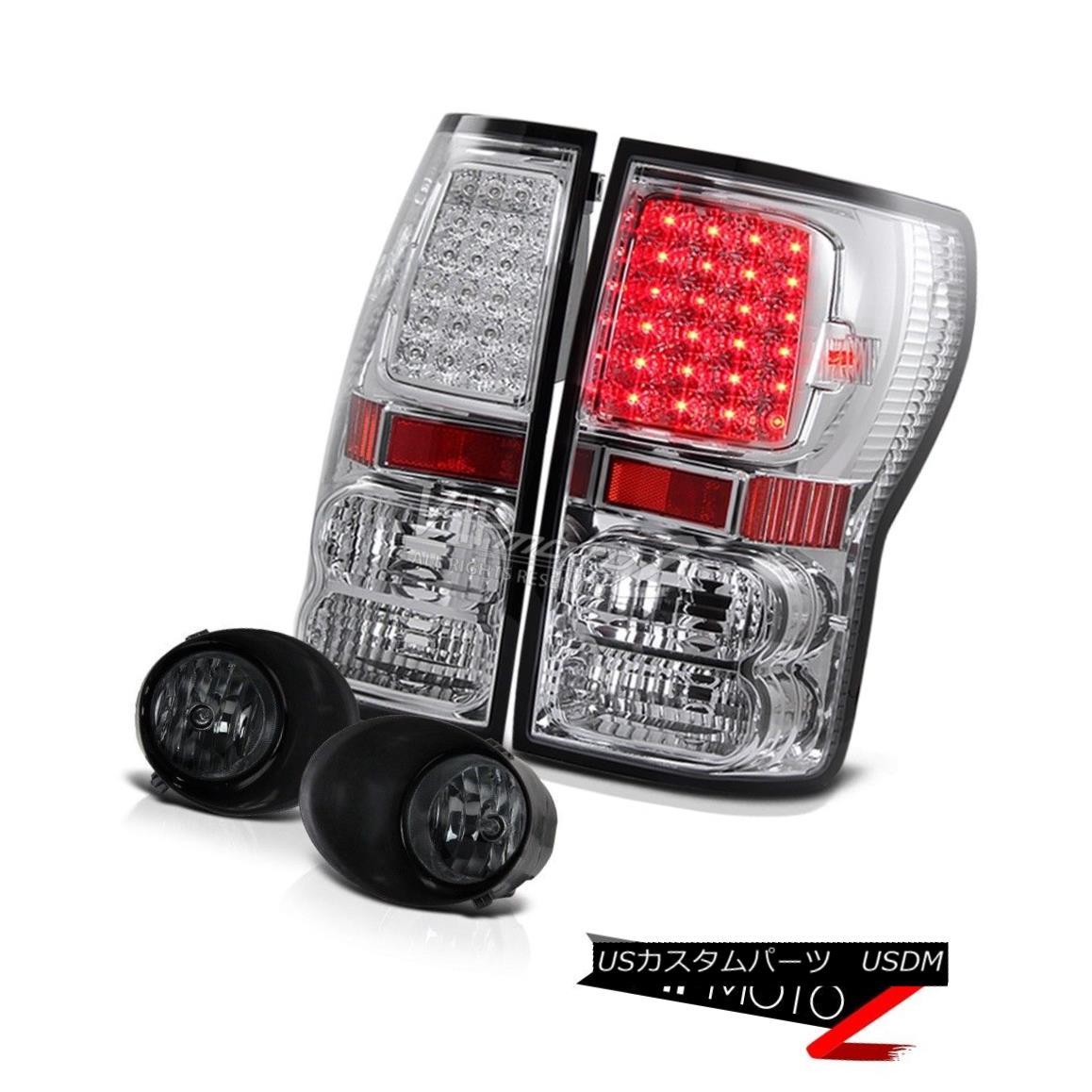 テールライト 07-13 Tundra Chrome Crystal Led Brake Lamp TailLight+Front Bumper Smoke Fog lamp 07-13トンドラクロームクリスタルLedブレーキランプTailLight + Fron tバンパースモークフォグランプ