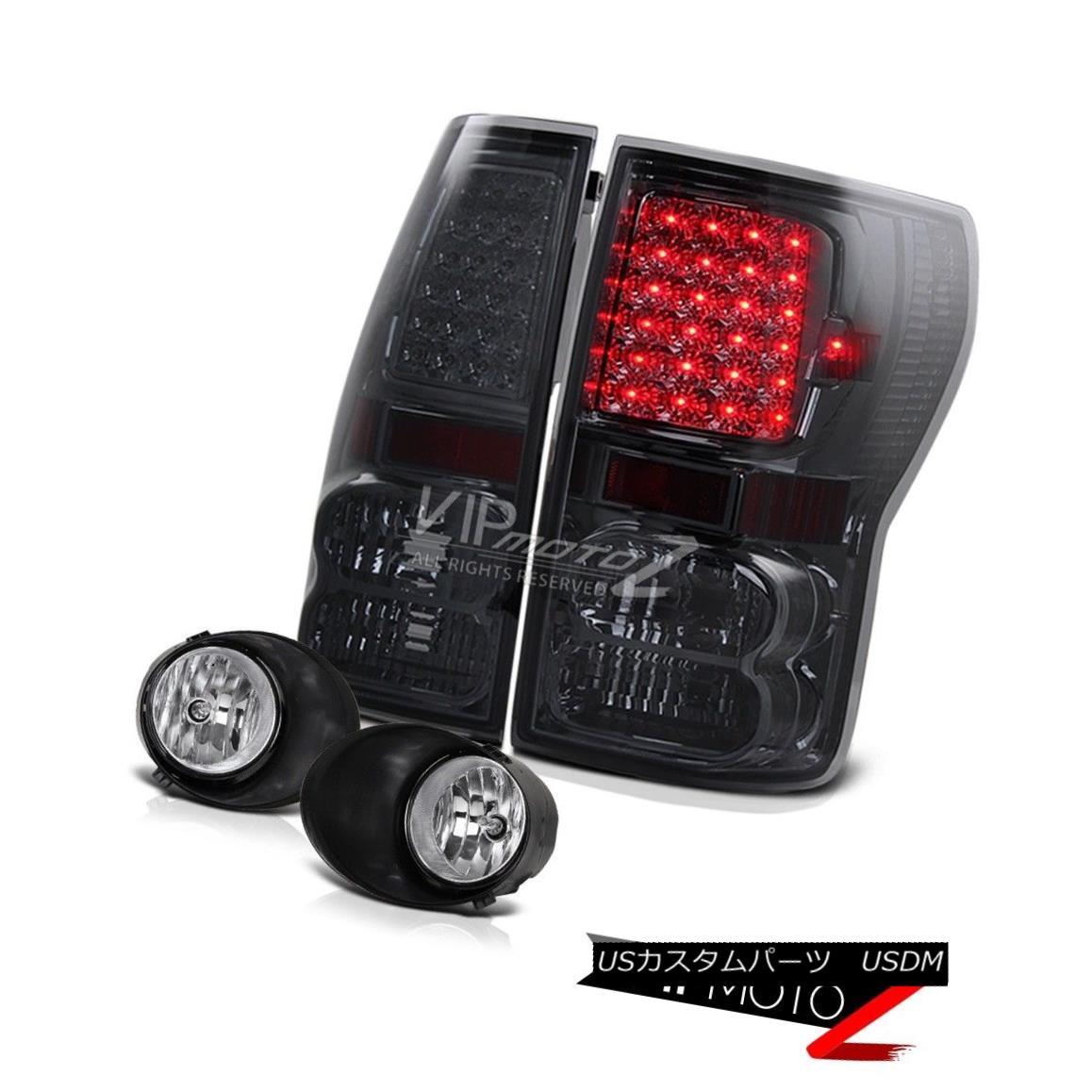 テールライト Smoke L+R Led Tail Lamp Brake Light+Crystal Fog Light+Switch 07-2013 Tundra 煙L + R Ledテールランプブレーキライト+クリスタルフォグライト+スイッチ07-2013 Tundra