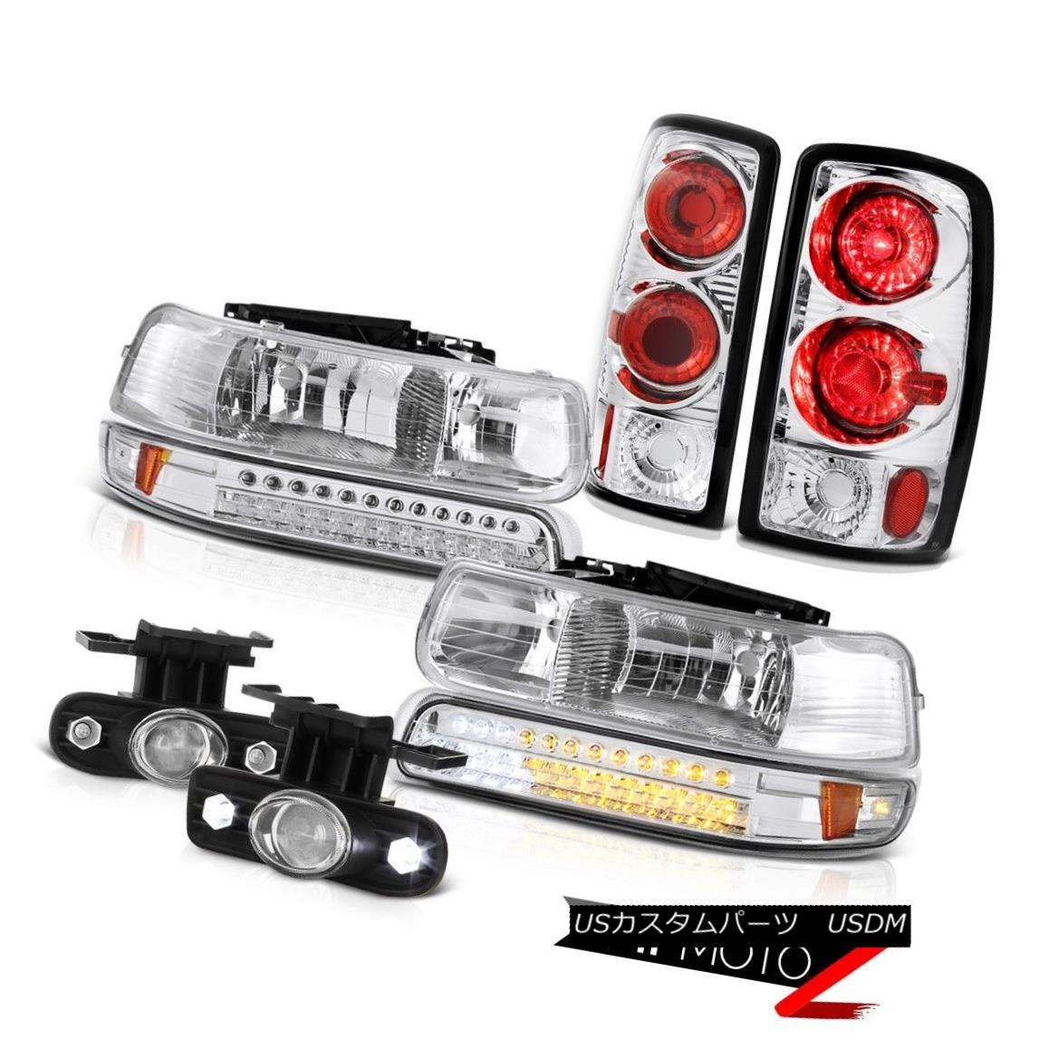 テールライト 2000-2006 Chevy Suburban Euro SMD Bumper+Headlamps Rear Tail Lights Bumper Fog 2000-2006シボレー郊外ユーロSMDバンパー+ヘッドラム psリアテールライトバンパーフォグ
