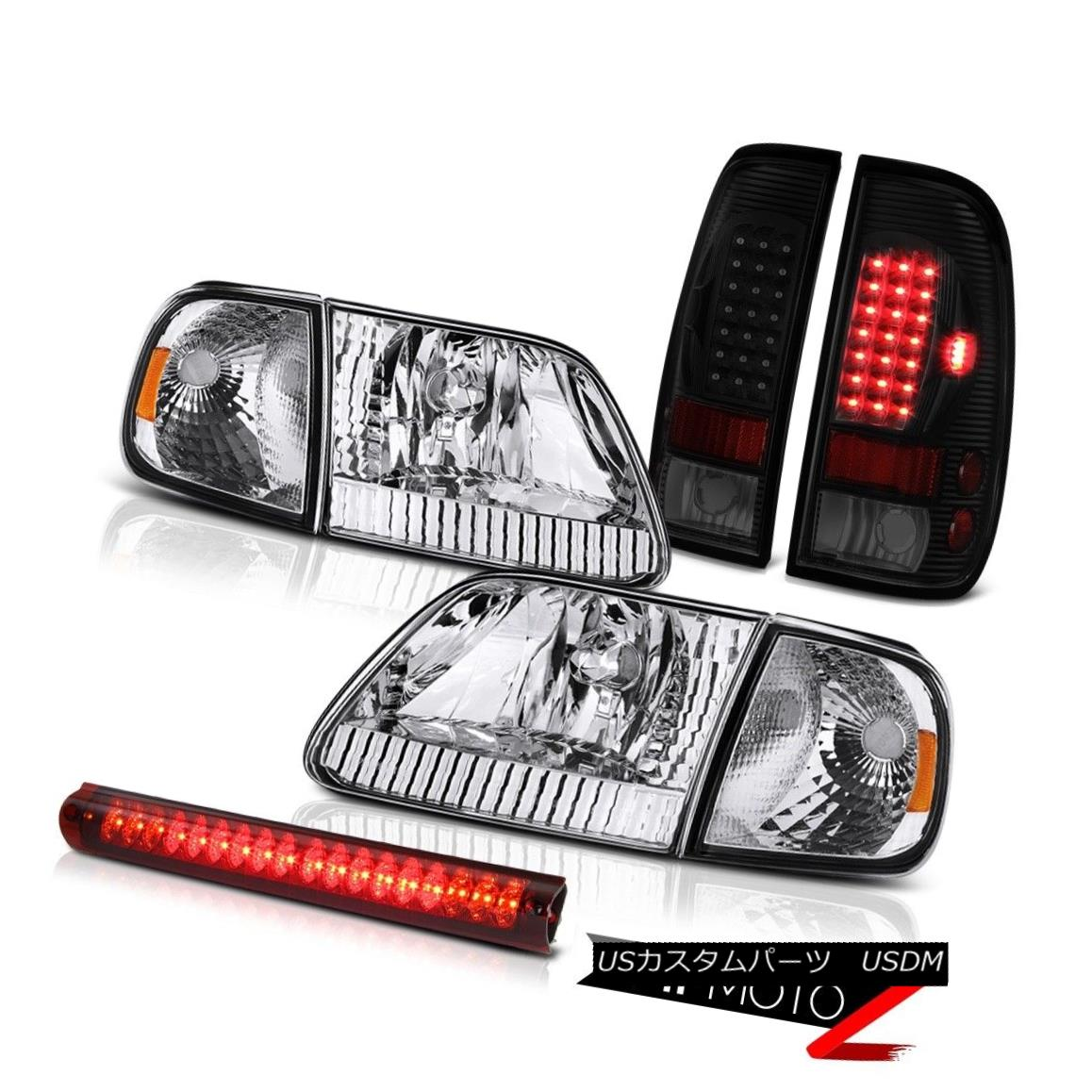 テールライト 97-03 F150 Xlt Headlights Red Clear Roof Cargo Light Taillamps SMD Replacement 97-03 F150 Xltヘッドライト赤いクリア屋根貨物ライトのタイルランプSMDの交換