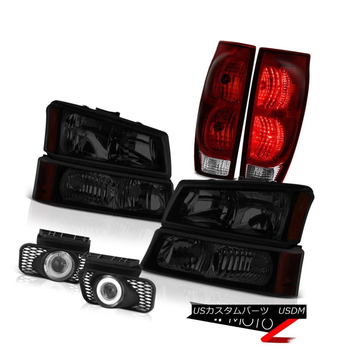 テールライト 2003-2006 Avalanche 1500 Chrome Fog Lamps Red Smoke Tail Lights Tinted Headlamps 2003-2006雪崩1500クロームフォグランプ赤い煙テールランプ彩色ヘッドランプ