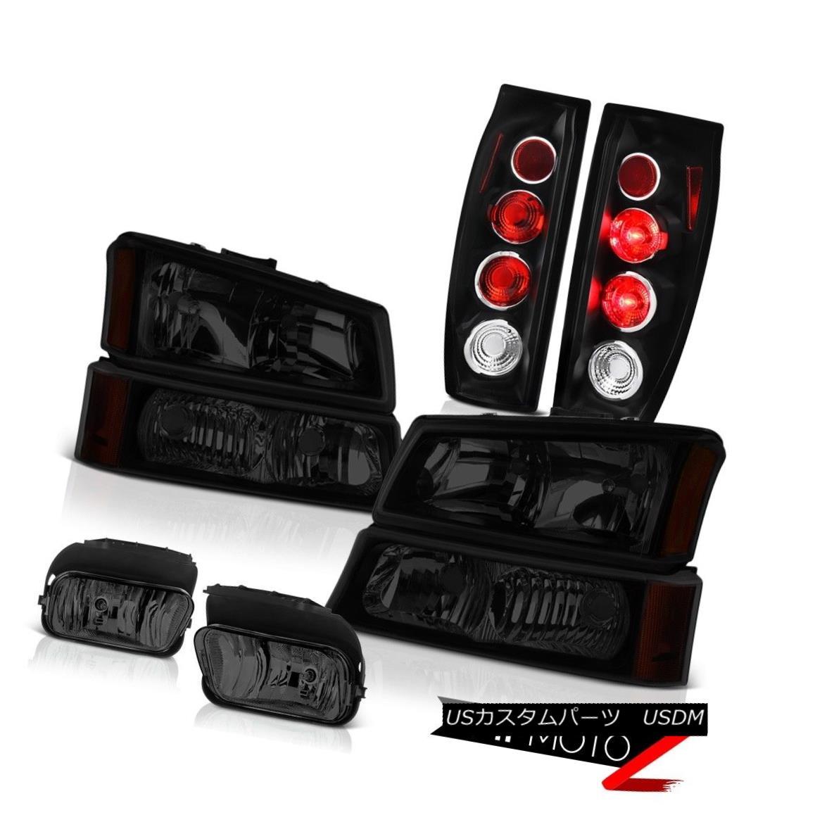 テールライト 2003-2006 Chevy Avalanche Fog Lights Inky Black Tail Sinister Headlamps Euro 2003年?2006年シボレーアバランシェフォグライトインキブラックテールシニスターヘッドランプ