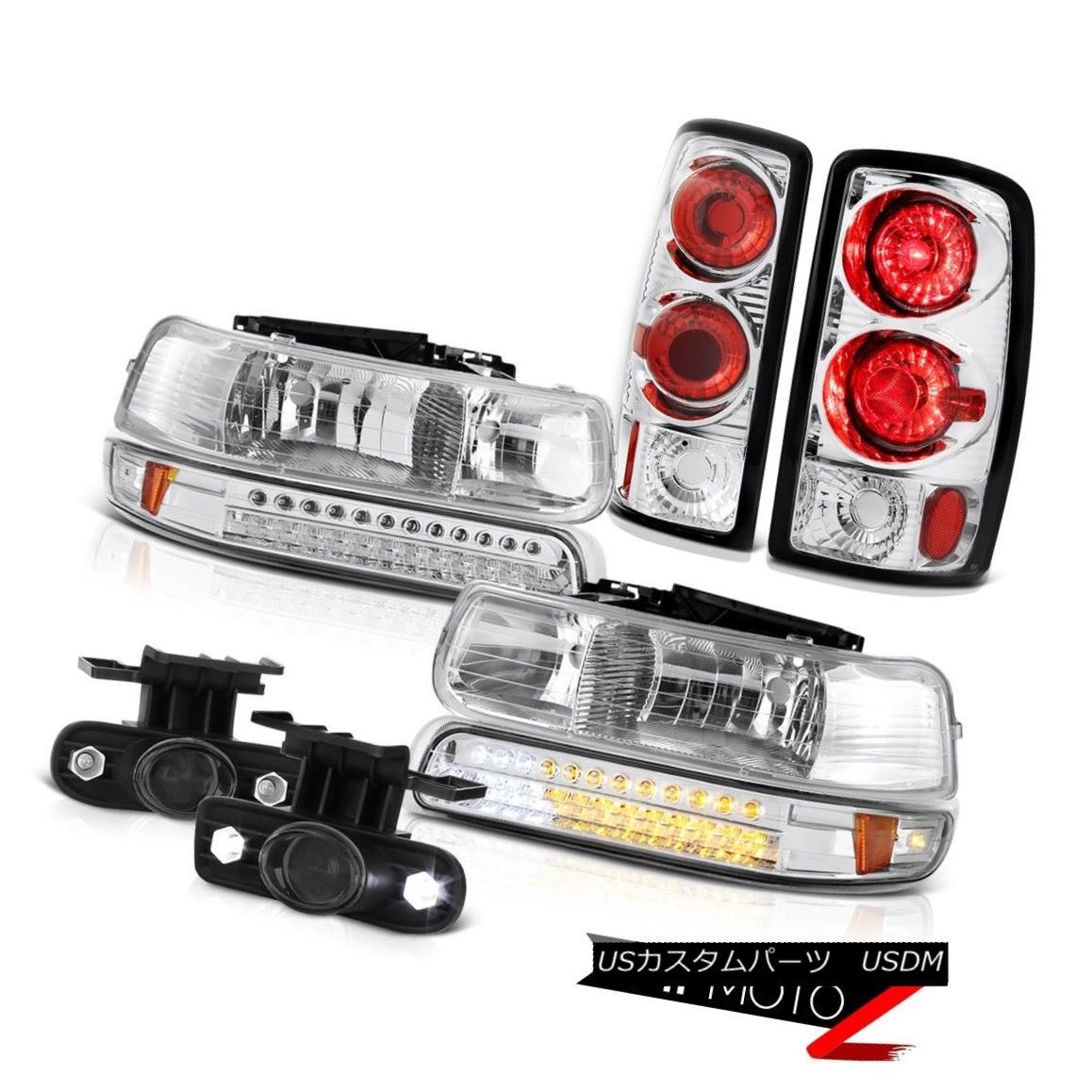 テールライト Signal Headlights 2000-06 Suburban 2500 Reverse Brake Lamps Projector Tinted Fog シグナルヘッドライト2000-06郊外2500リバースブレーキランププロジェクタ着色霧