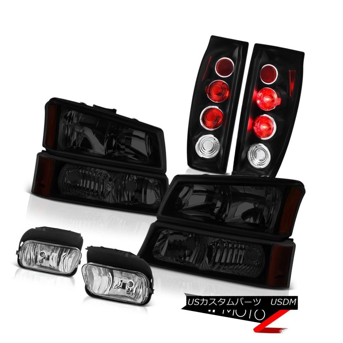 テールライト 2003-2006 Avalanche 2500 Chrome Foglights Taillamps Sinister Black Headlamps 2003年?2006年雪崩2500クロムフォグライトタイルランプ灰色のブラックヘッドランプ