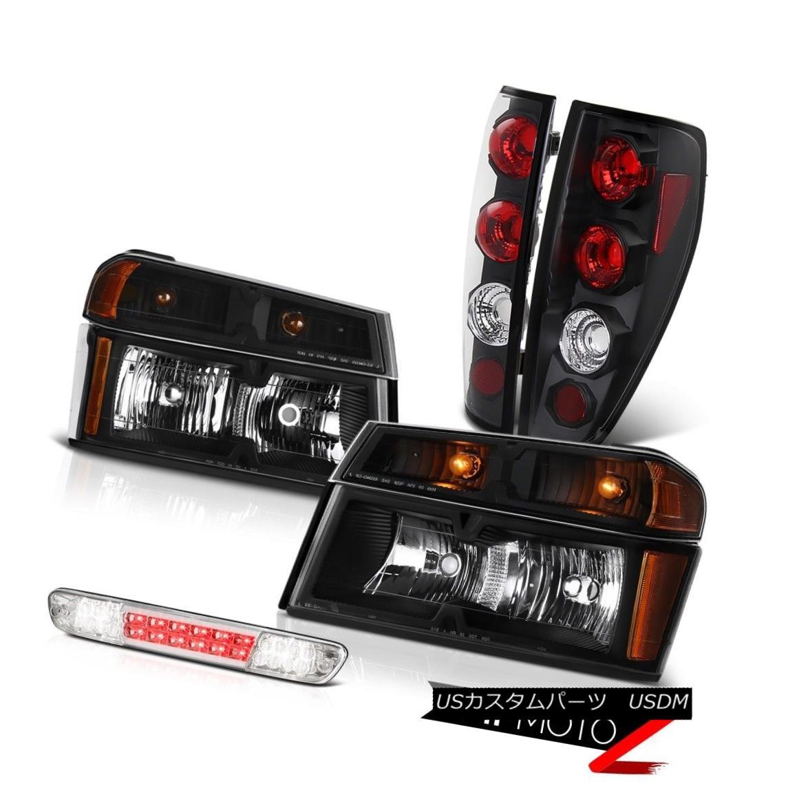 テールライト 2004-2012 Canyon Sle Raven Black Headlights Taillights Chrome Roof Cargo Lamp 2004-2012キャニオンスリーレイブンブラックヘッドライトテールランズクロームルーフカーゴランプ