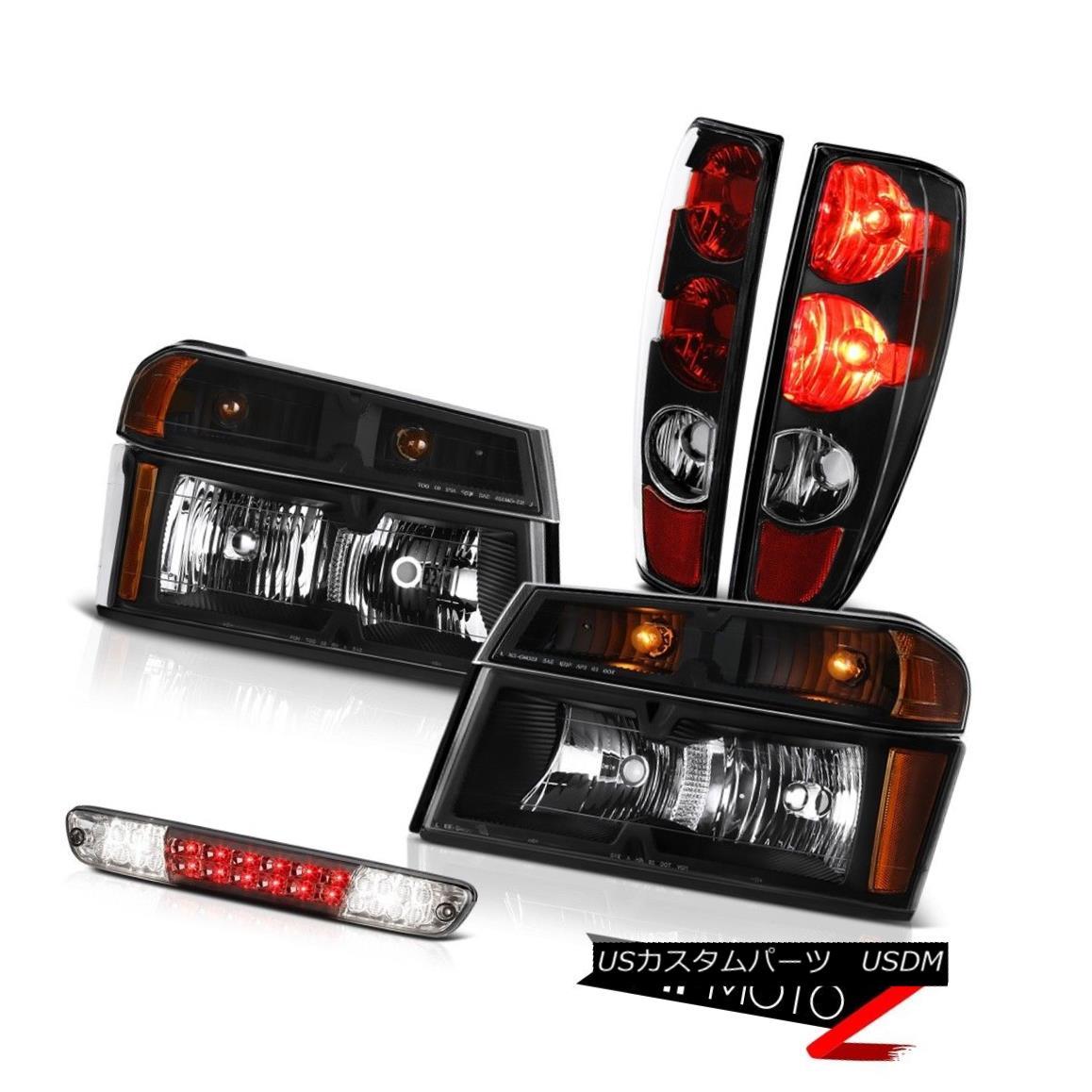 テールライト 2004-2012 Colorado Factory Style Tail Light Set Head Led 3Rd Brake Replacement 2004年から2012年のコロラド工場のスタイルのテールライトセットヘッドは3Rdブレーキ交換を導いた