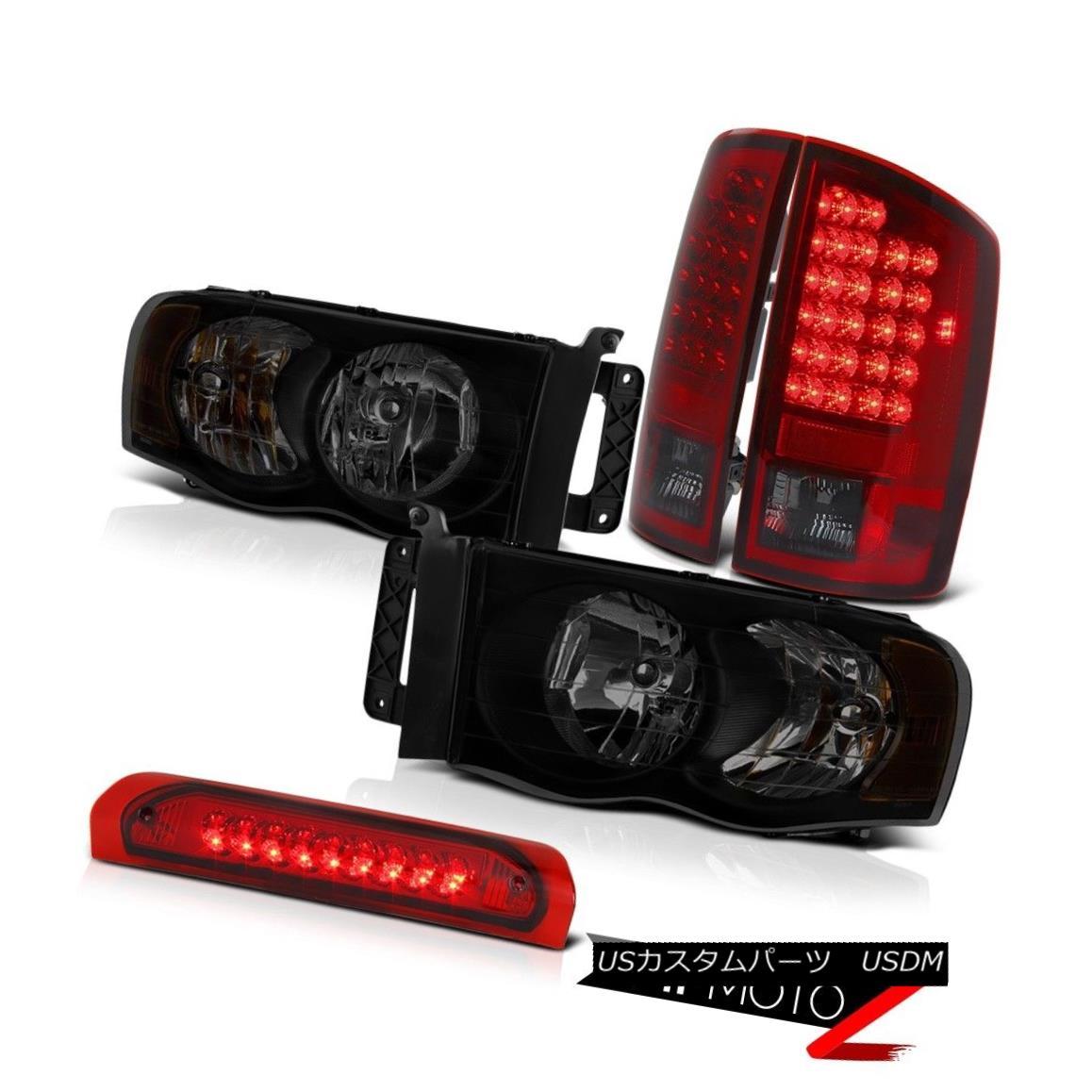 テールライト 02-05 Dodge Ram 1500 2500 5.7L Headlamps Red Roof Brake Lamp Smoked Tail Lights 02-05 Dodge Ram 1500 2500 5.7Lヘッドランプ赤い屋根のブレーキランプスモークテールライト