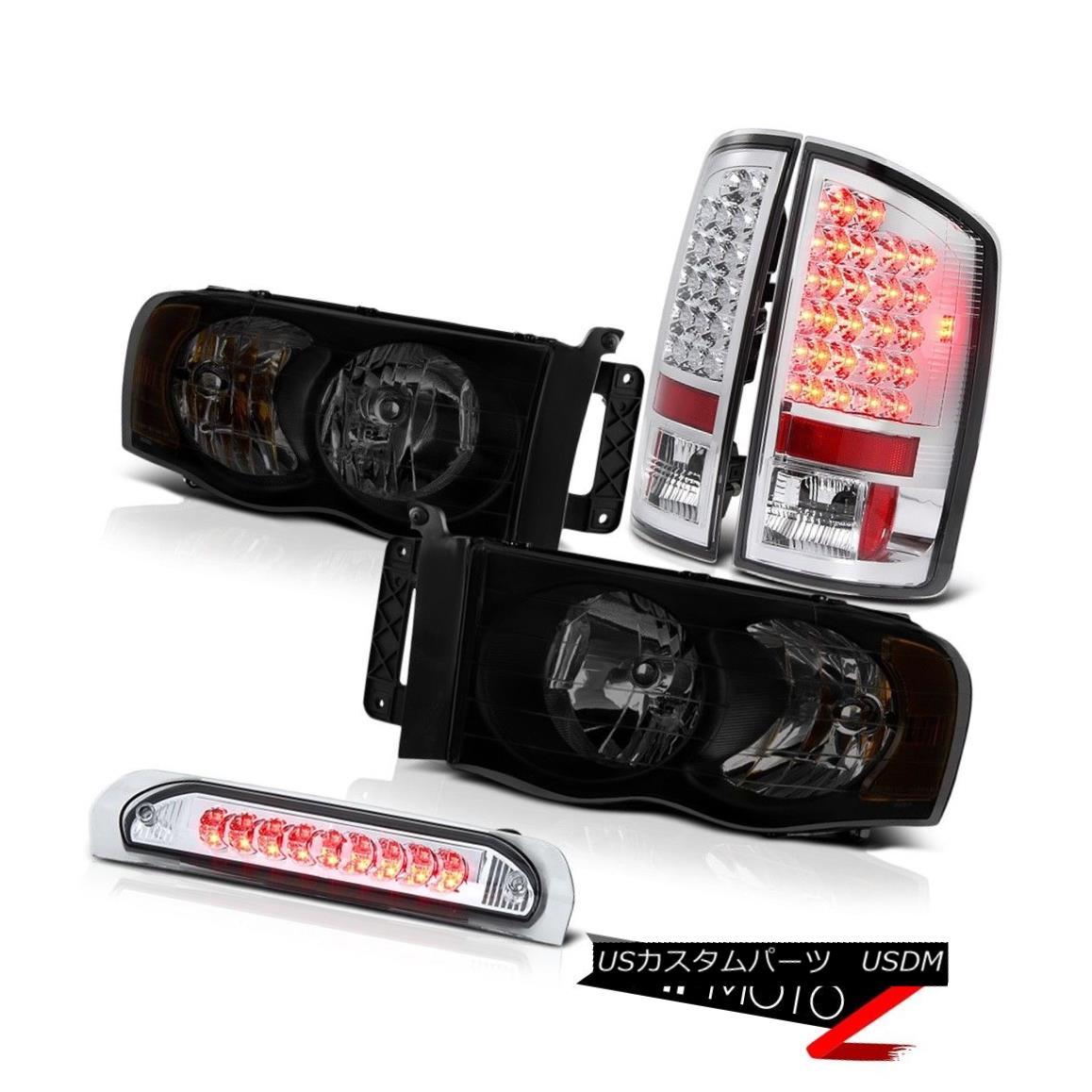 テールライト 02-05 Ram 1500 2500 3500 3.7L Headlamps Euro Chrome 3RD Brake Light Taillights 02-05 Ram 1500 2500 3500ヘッドランプEuro Chrome 3RDブレーキライトテールライト