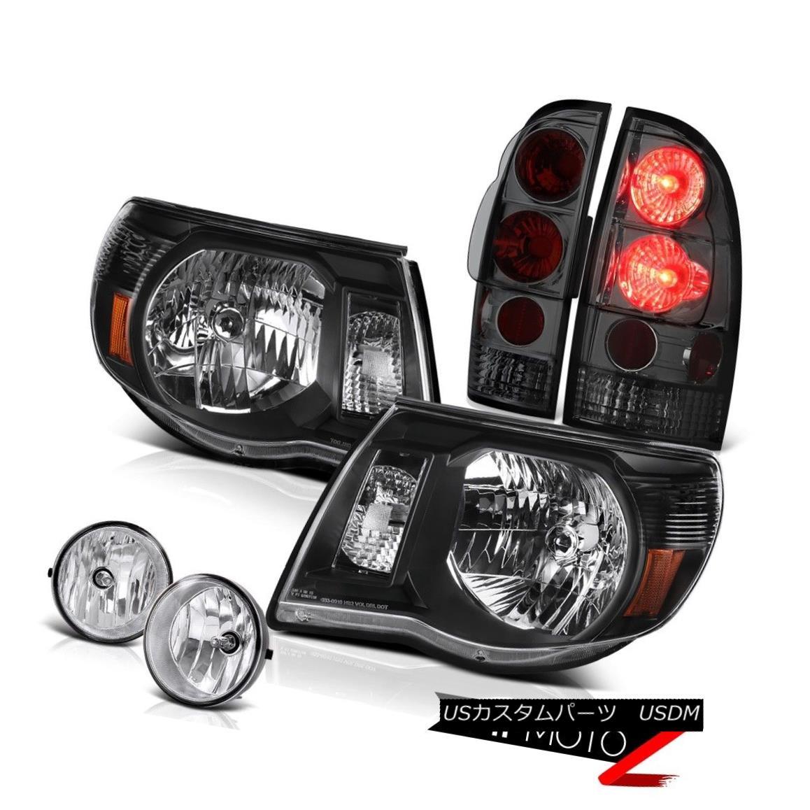 テールライト L+R Black Headlight Smoke Tail Light Chrome Fog 05 06 07 08 09 10 11 Tacoma 4.0L L + Rブラックヘッドライトスモークテールライトクロームフォグ05 06 07 08 09 10 11タコマ4.0L