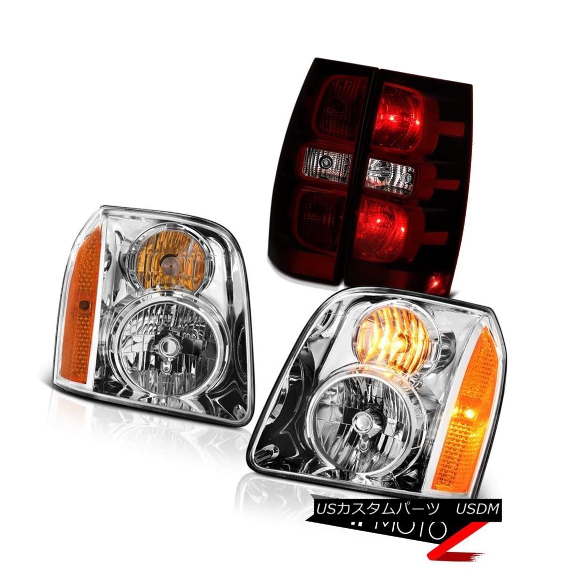 テールライト 2007-2014 GMC Yukon XL SLE Tail Lamps Euro Clear Headlights OE Style Replacement 2007-2014 GMCユーコンXL SLEテールランプユーロクリアヘッドライトOEスタイルの交換